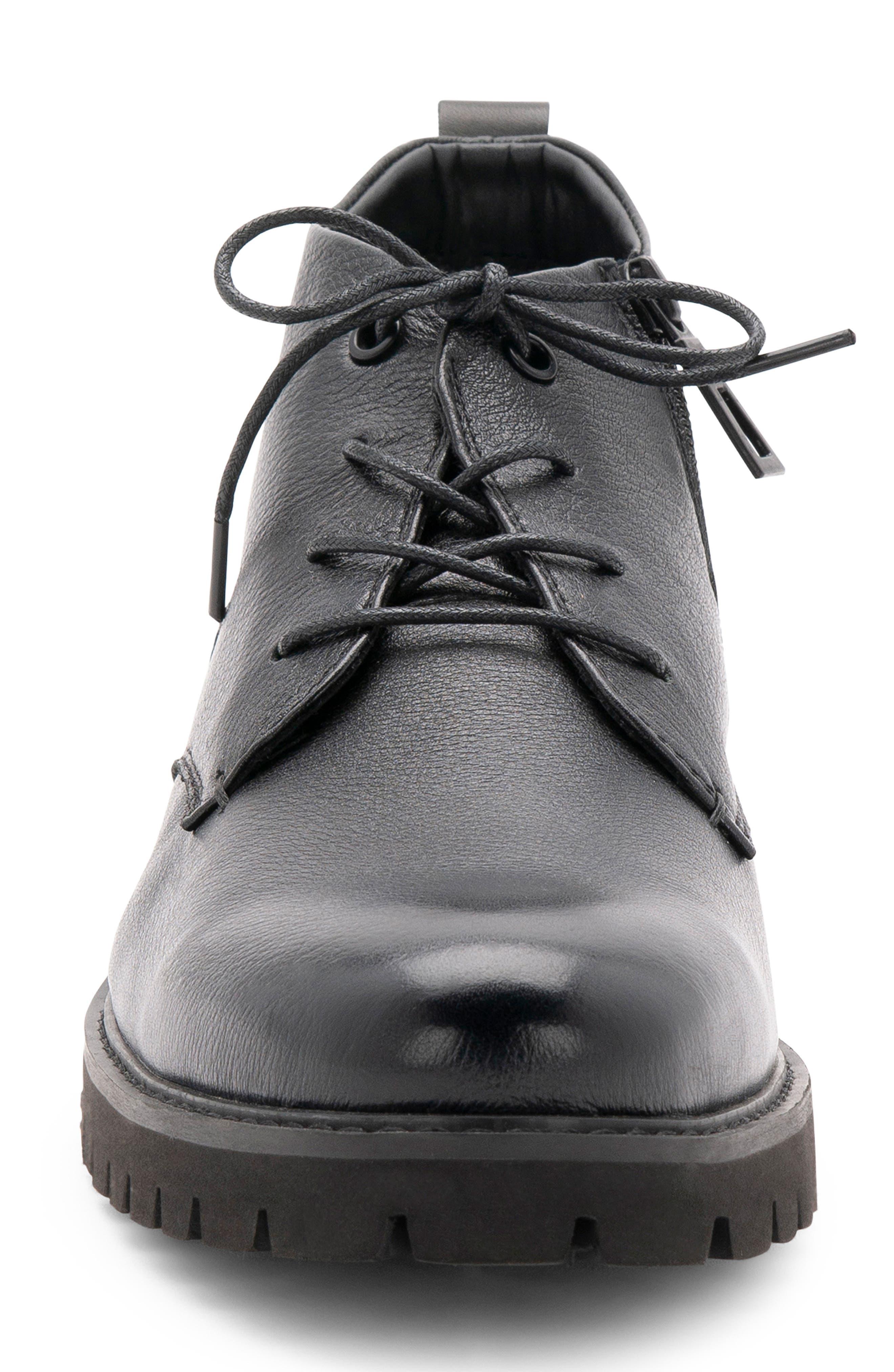 BLONDO,                             Max Chukka Waterproof Boot,                             Alternate thumbnail 4, color,                             BLACK LEATHER