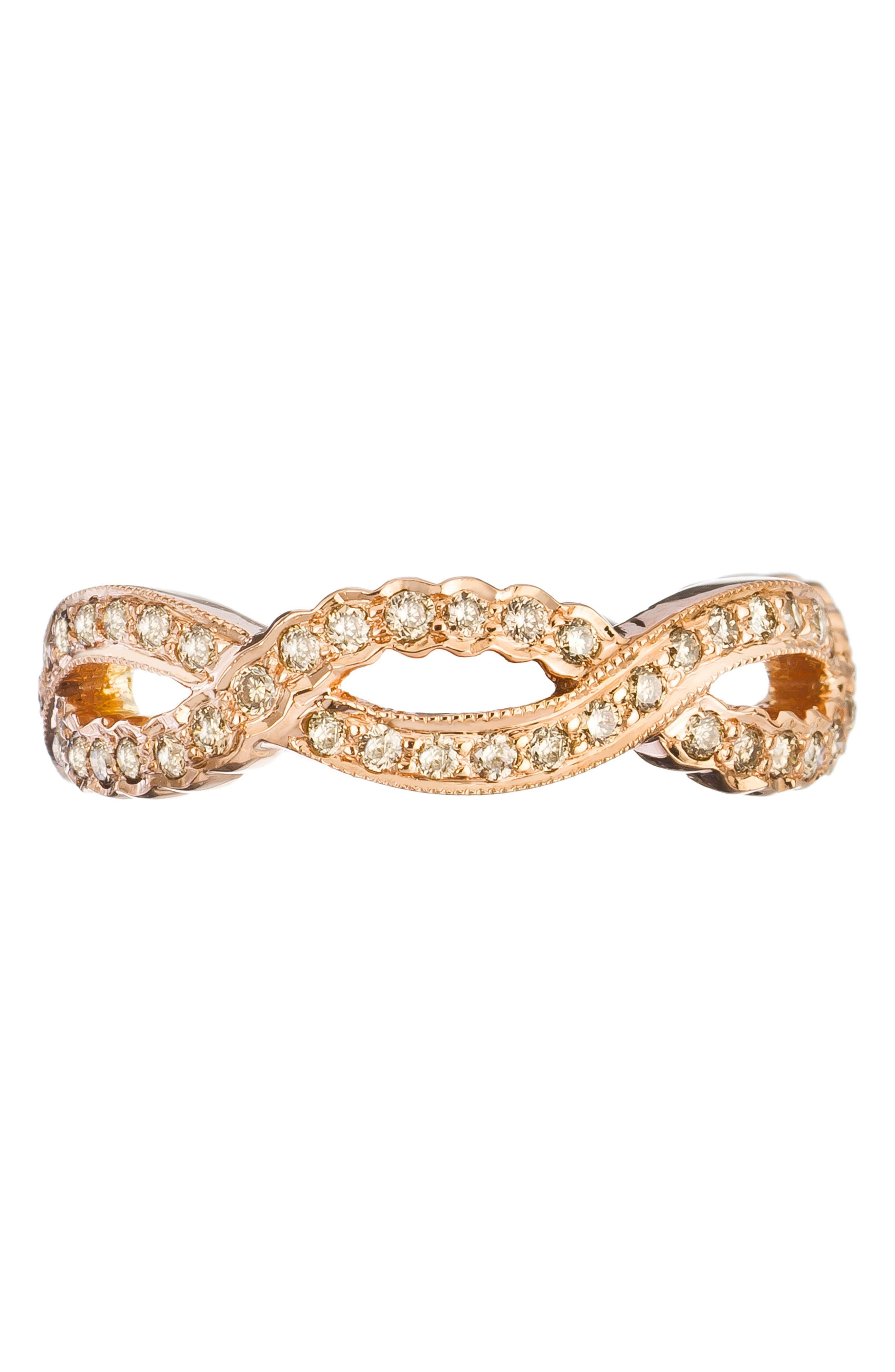 SETHI COUTURE Champagne Diamond Infinity Ring in Gold