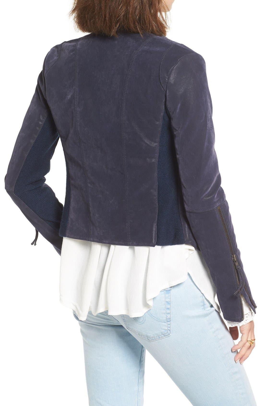 Faux Leather Jacket,                             Alternate thumbnail 15, color,