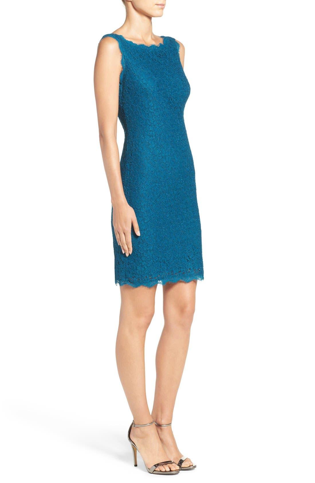 Boatneck Lace Sheath Dress,                             Alternate thumbnail 148, color,