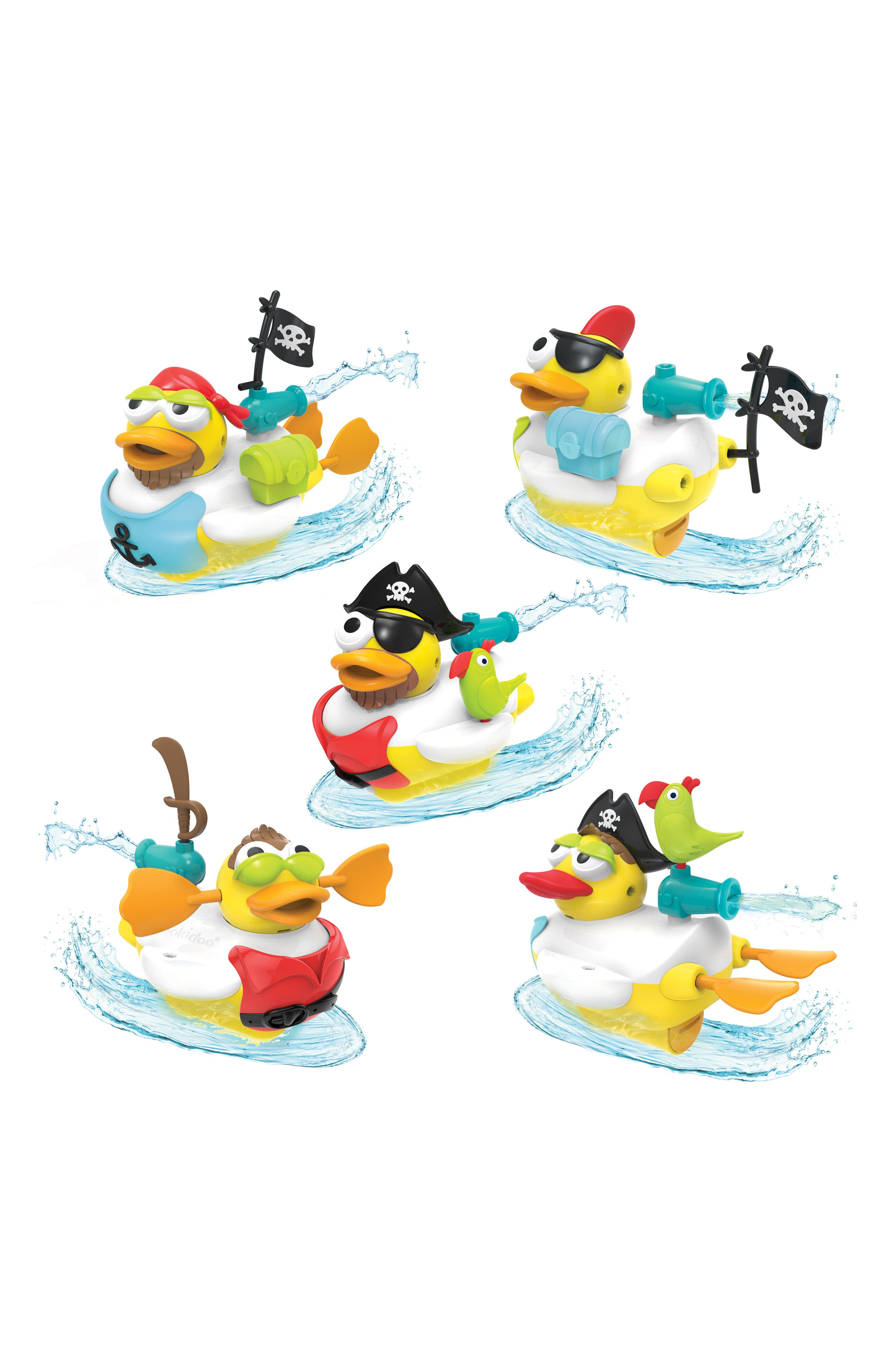 Jet Duck<sup>™</sup> Create a Pirate Bath Toy Kit,                             Alternate thumbnail 7, color,                             YELLOW