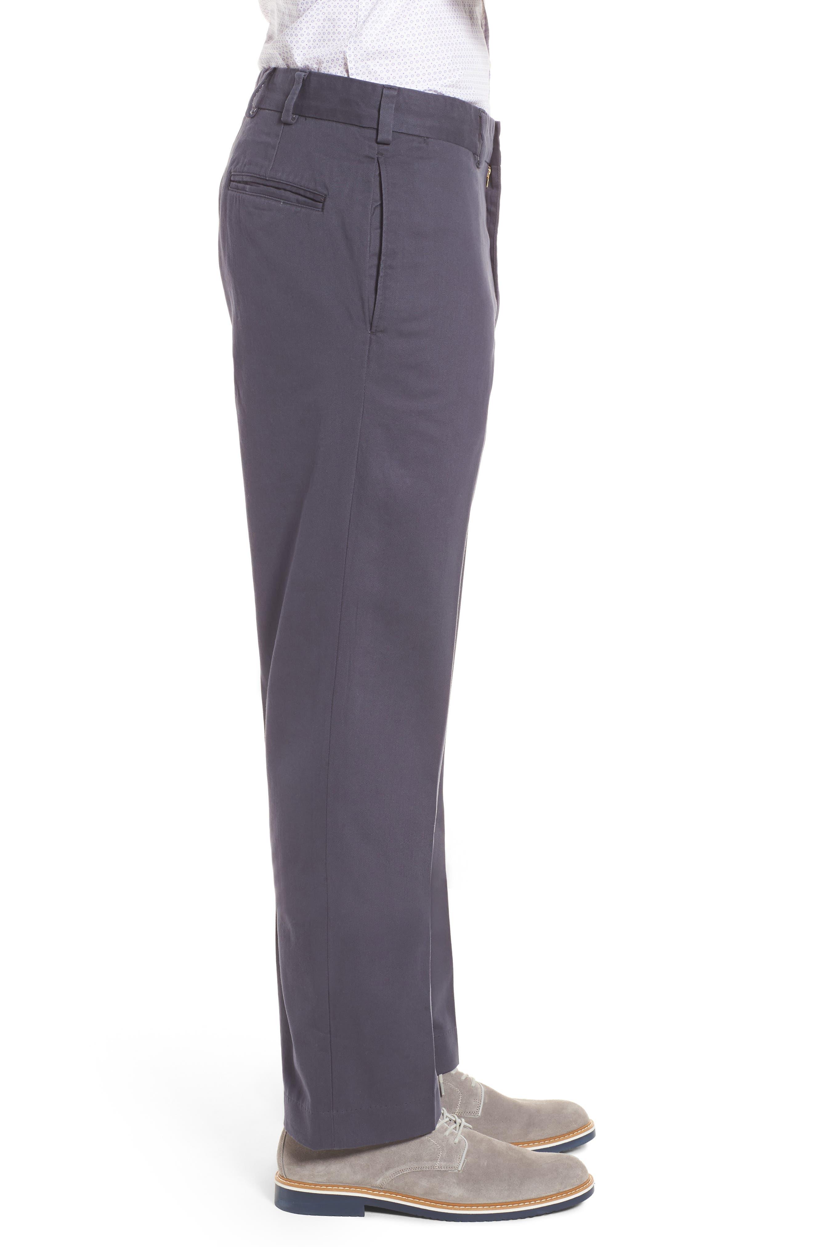 M2 Classic Fit Flat Front Vintage Twill Pants,                             Alternate thumbnail 3, color,                             410