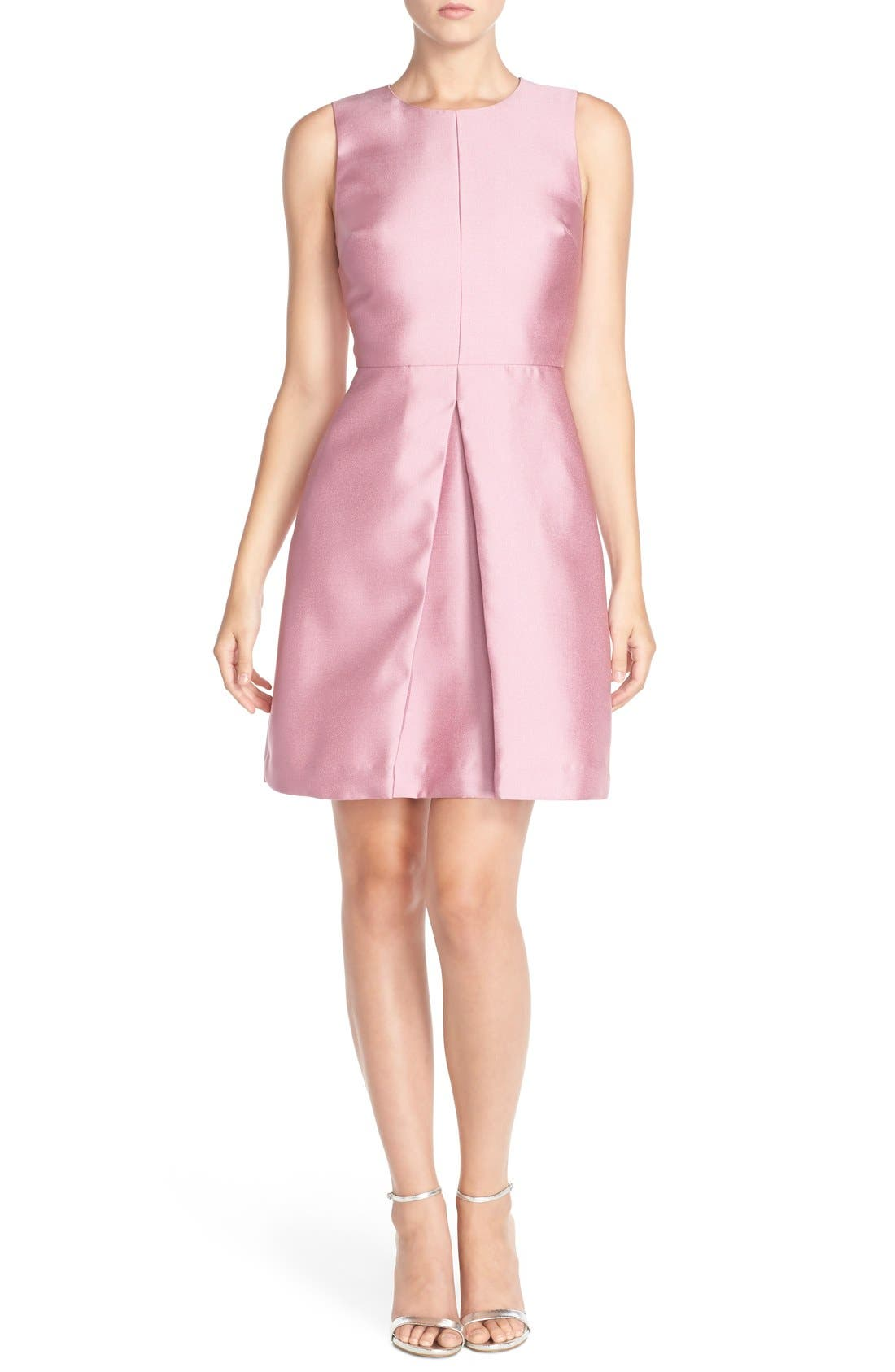 'Sophie' Twill Fit & Flare Dress,                             Alternate thumbnail 6, color,                             663