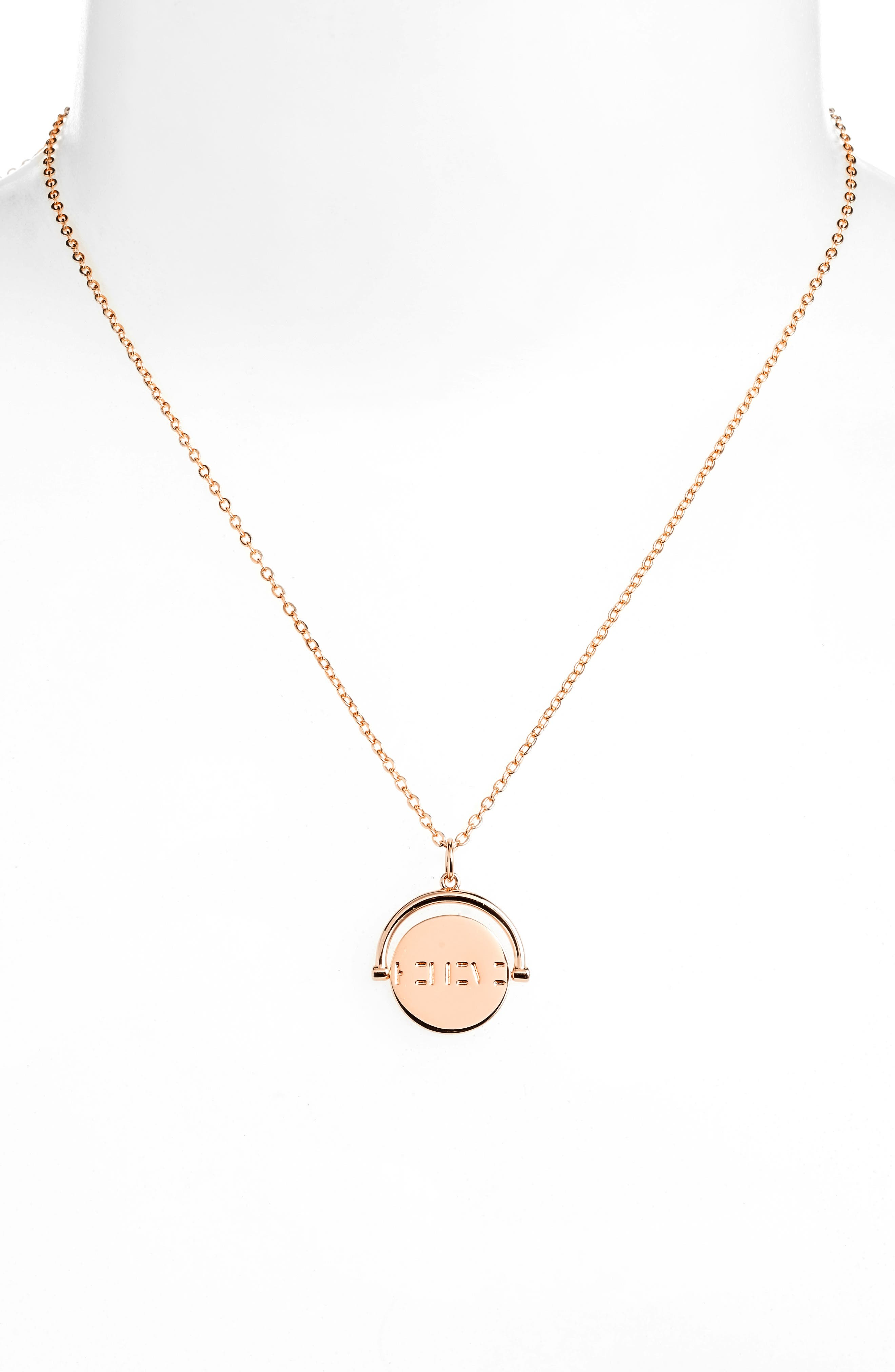 Love Code Spinning Pendant Necklace,                             Alternate thumbnail 10, color,