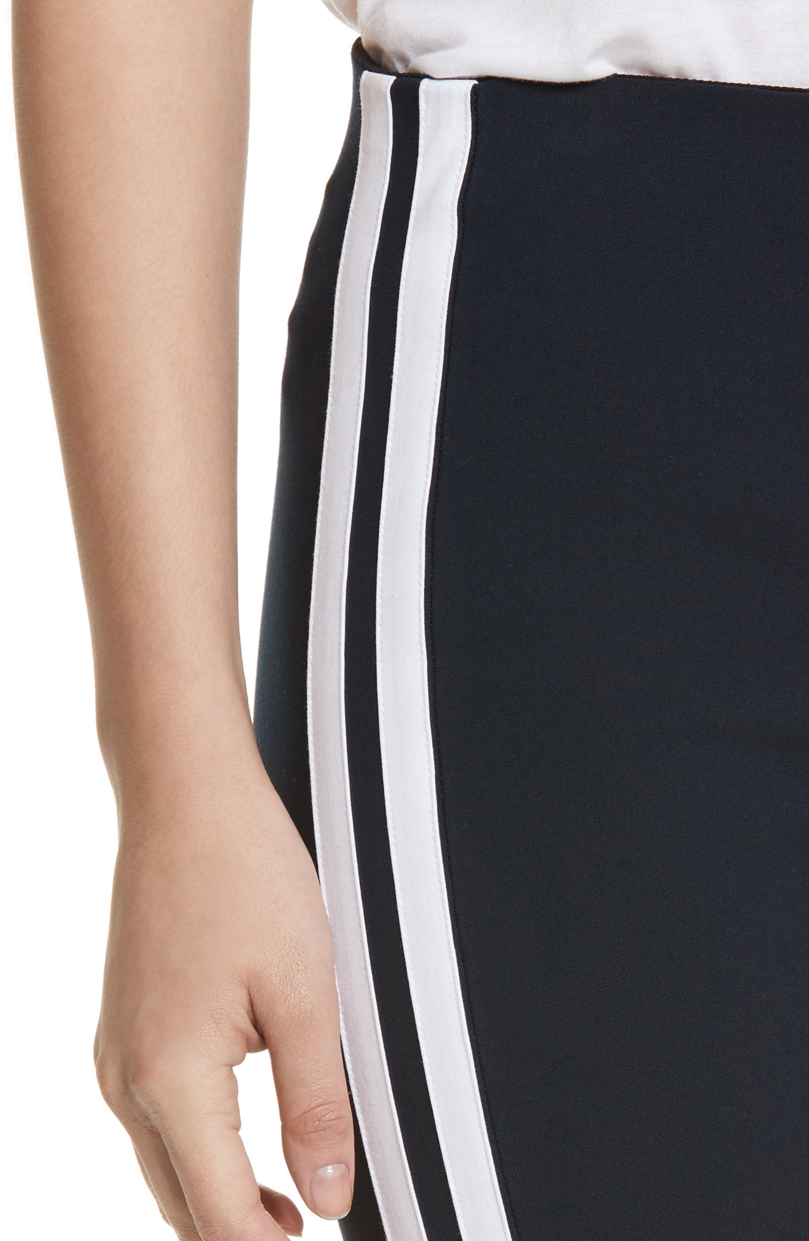 Simone Side Stripe Slim Ankle Pants,                             Alternate thumbnail 4, color,                             416