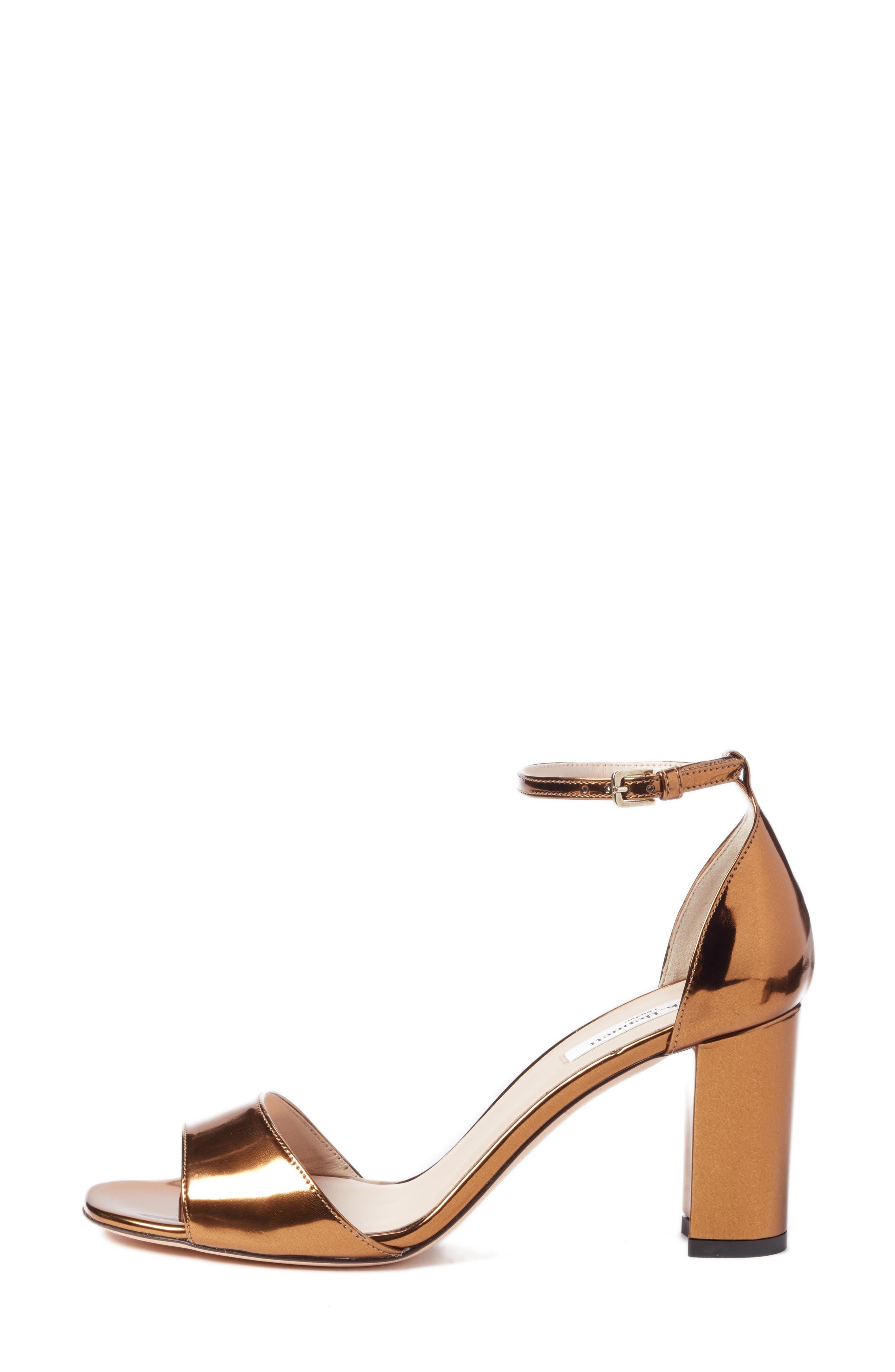'Helena' Ankle Strap Block Heel Sandal,                             Alternate thumbnail 3, color,                             710