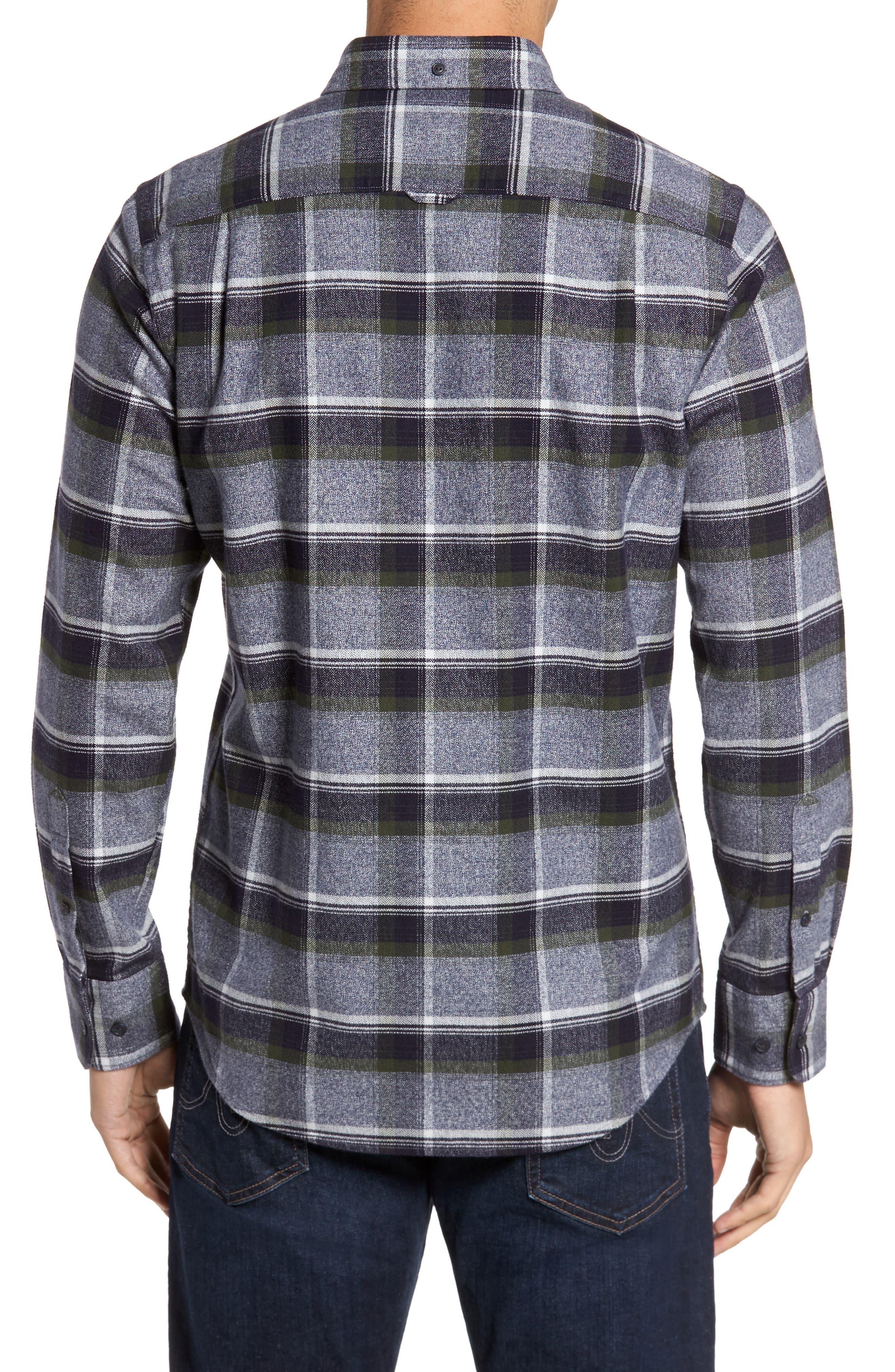 Regular Fit Plaid Flannel Shirt,                             Alternate thumbnail 2, color,