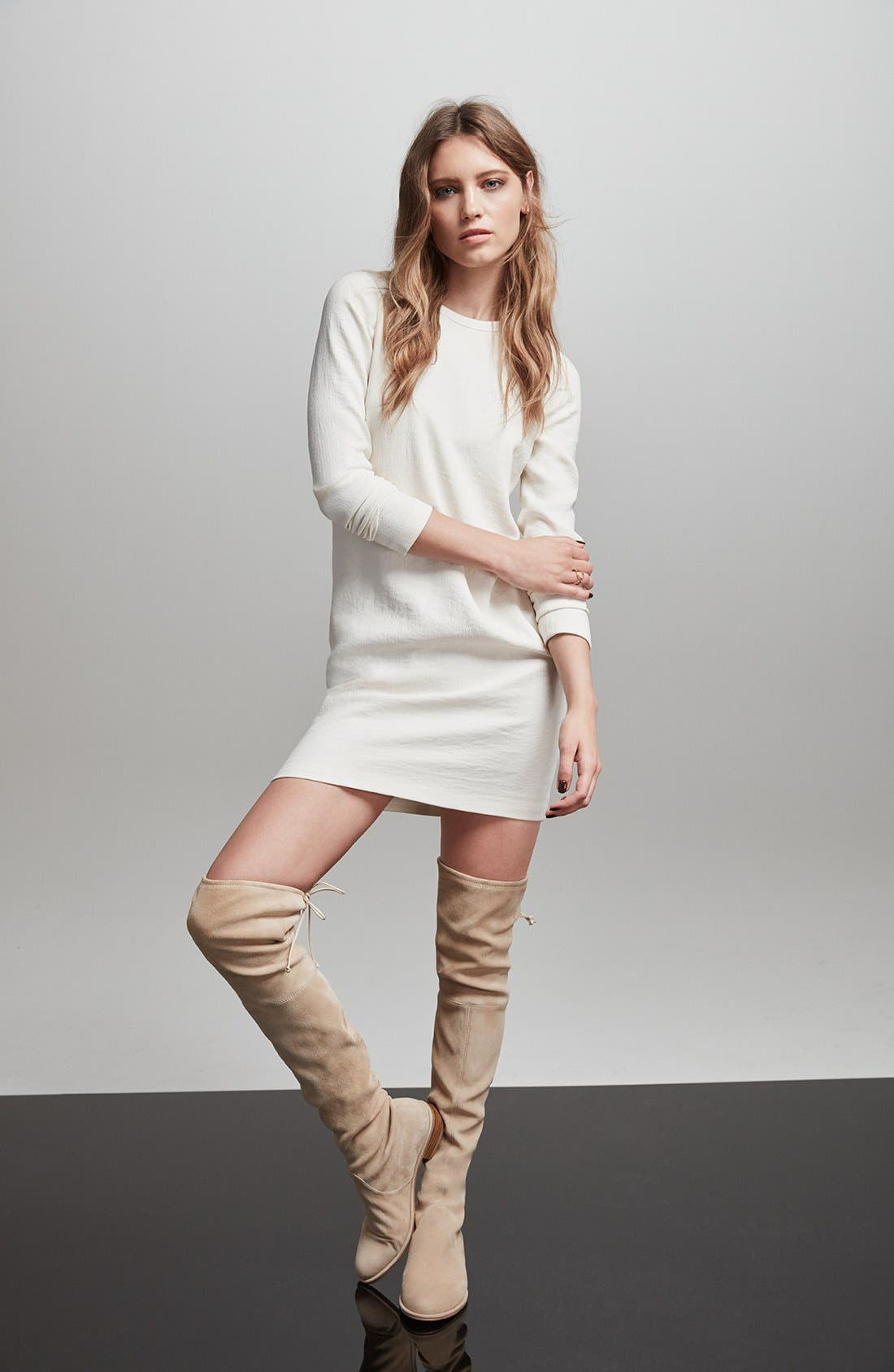 'Lowland' Over the Knee Boot,                             Alternate thumbnail 8, color,                             ASPHALT SUEDE
