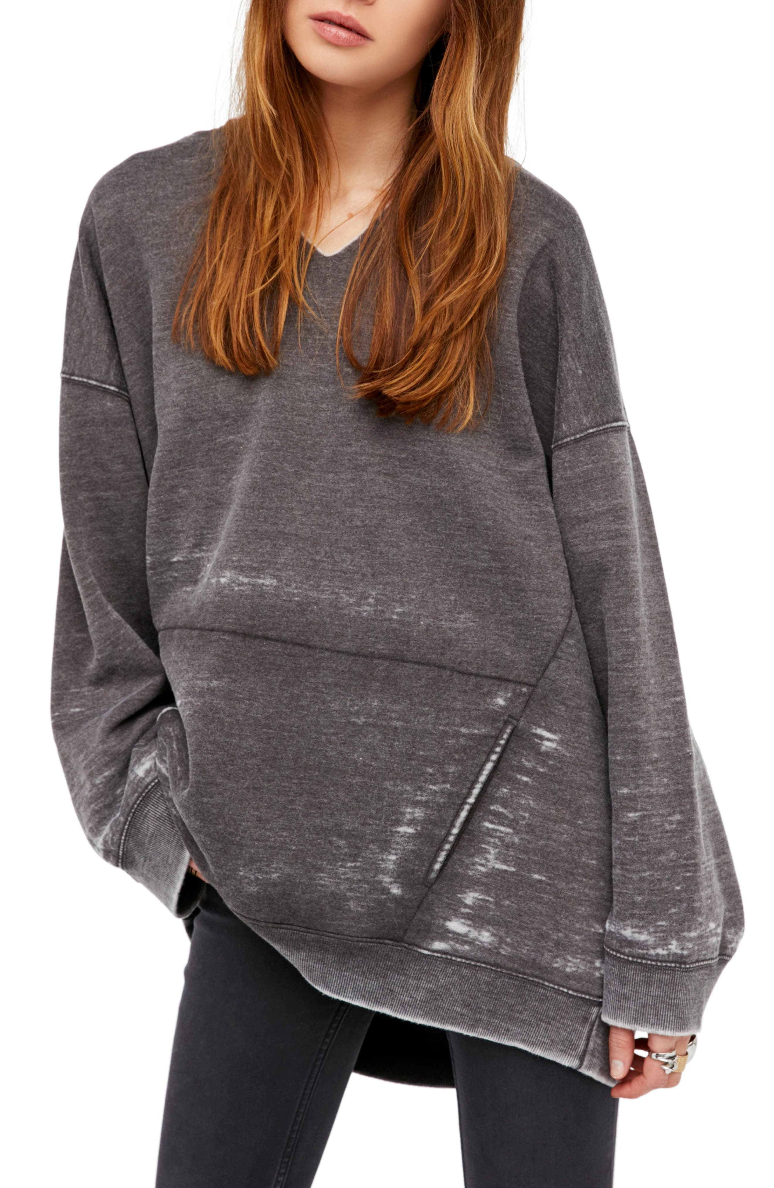 FREE PEOPLE,                             Get It Pullover Hoodie,                             Main thumbnail 1, color,                             001