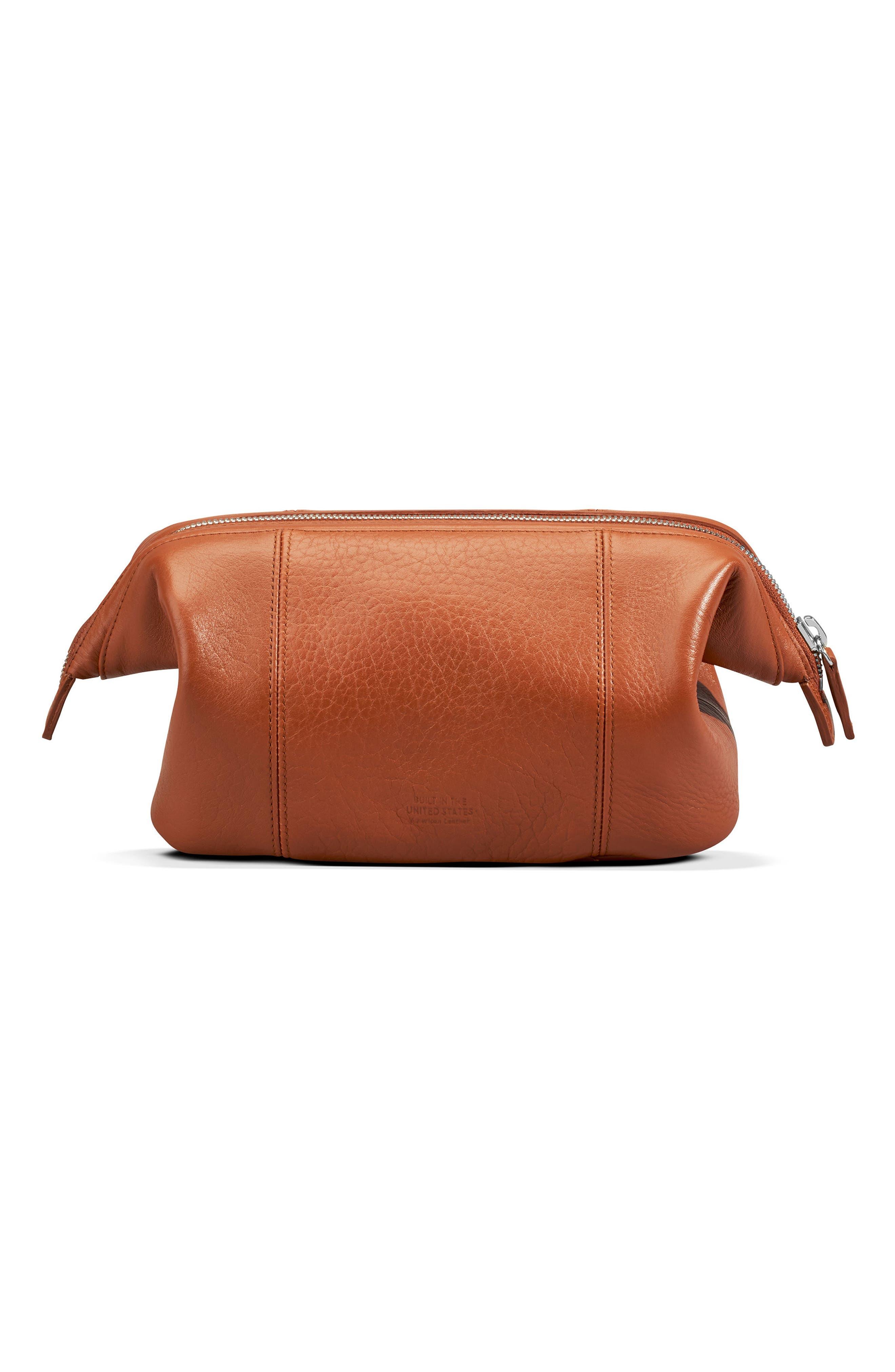 Leather Travel Kit,                             Alternate thumbnail 5, color,