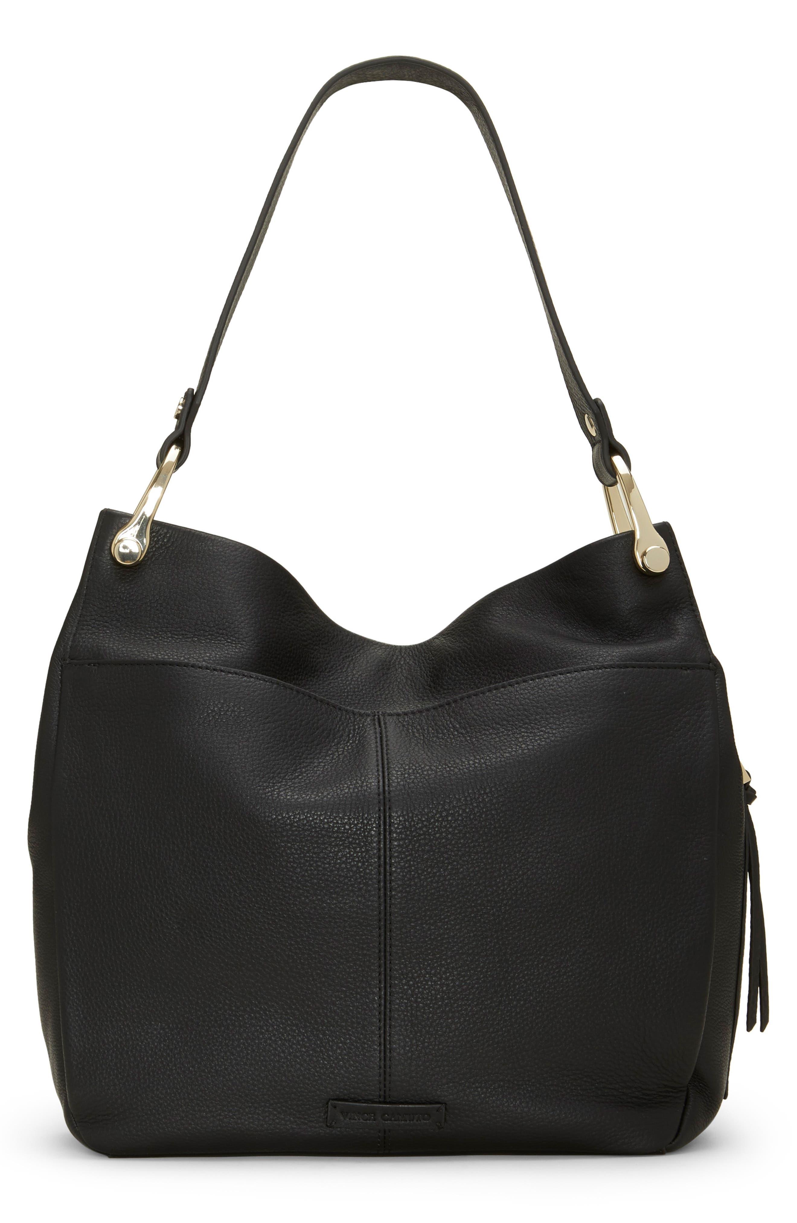 Clem Leather Hobo Bag,                             Alternate thumbnail 2, color,                             BLACK