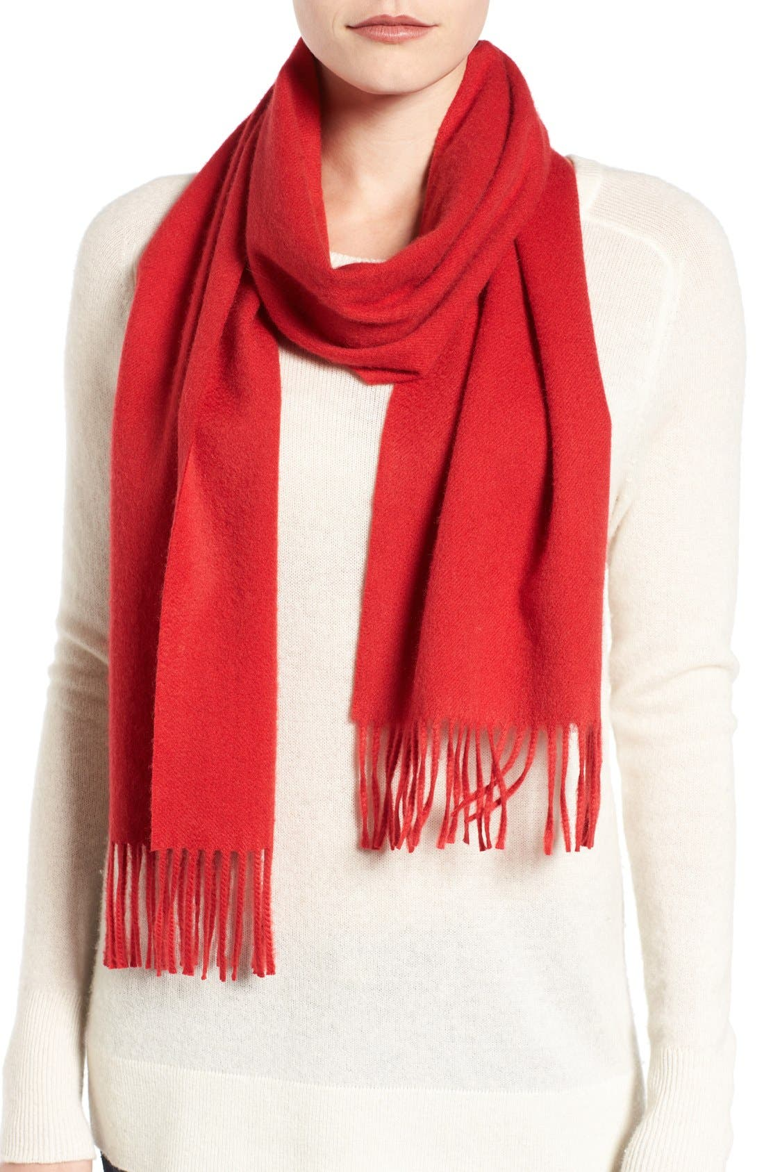 Solid Woven Cashmere Scarf,                             Main thumbnail 14, color,