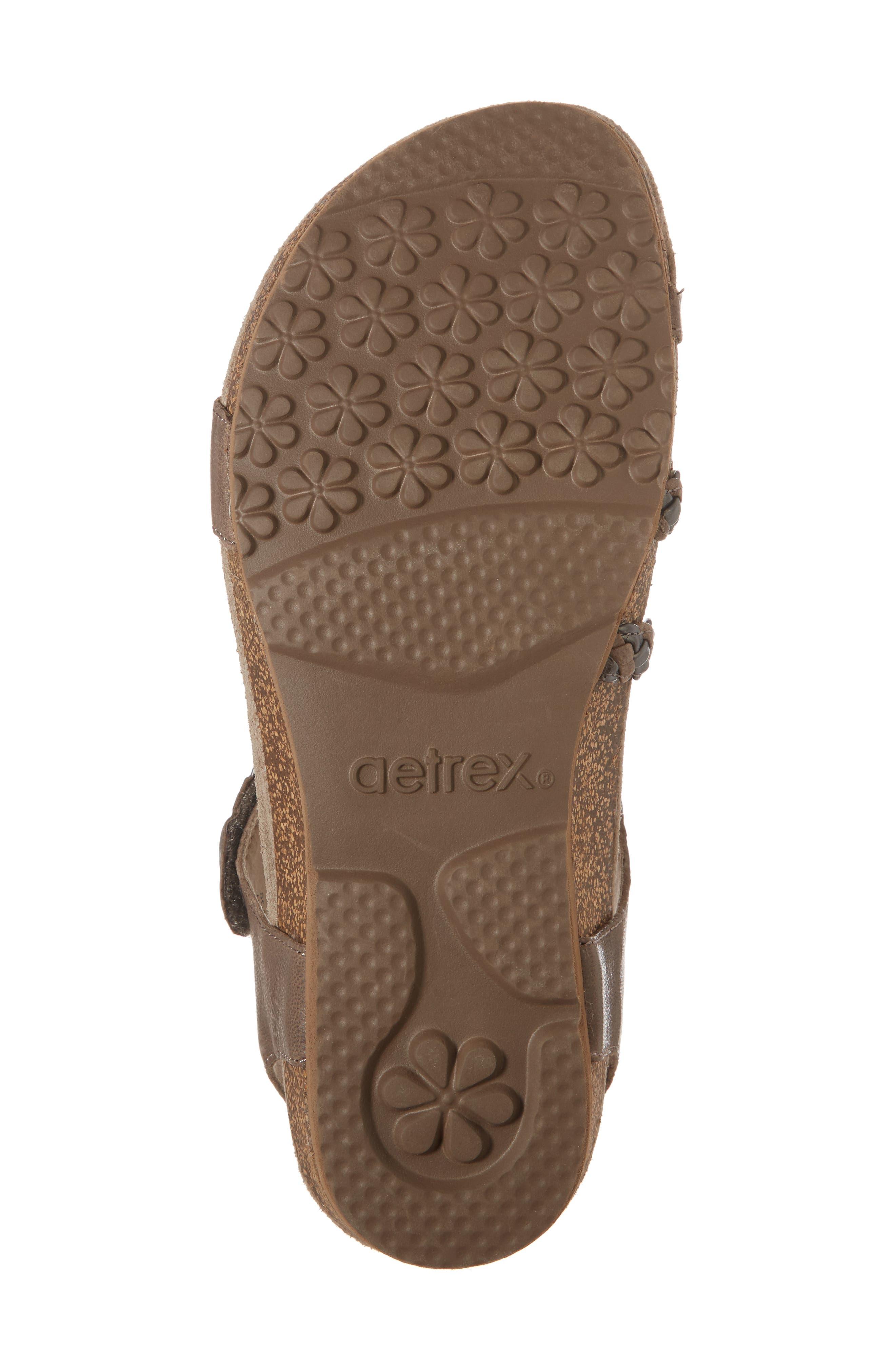 'Jillian' Braided Leather Strap Sandal,                             Alternate thumbnail 6, color,                             GREY LEATHER