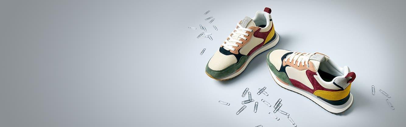 Retro sneakers for women.