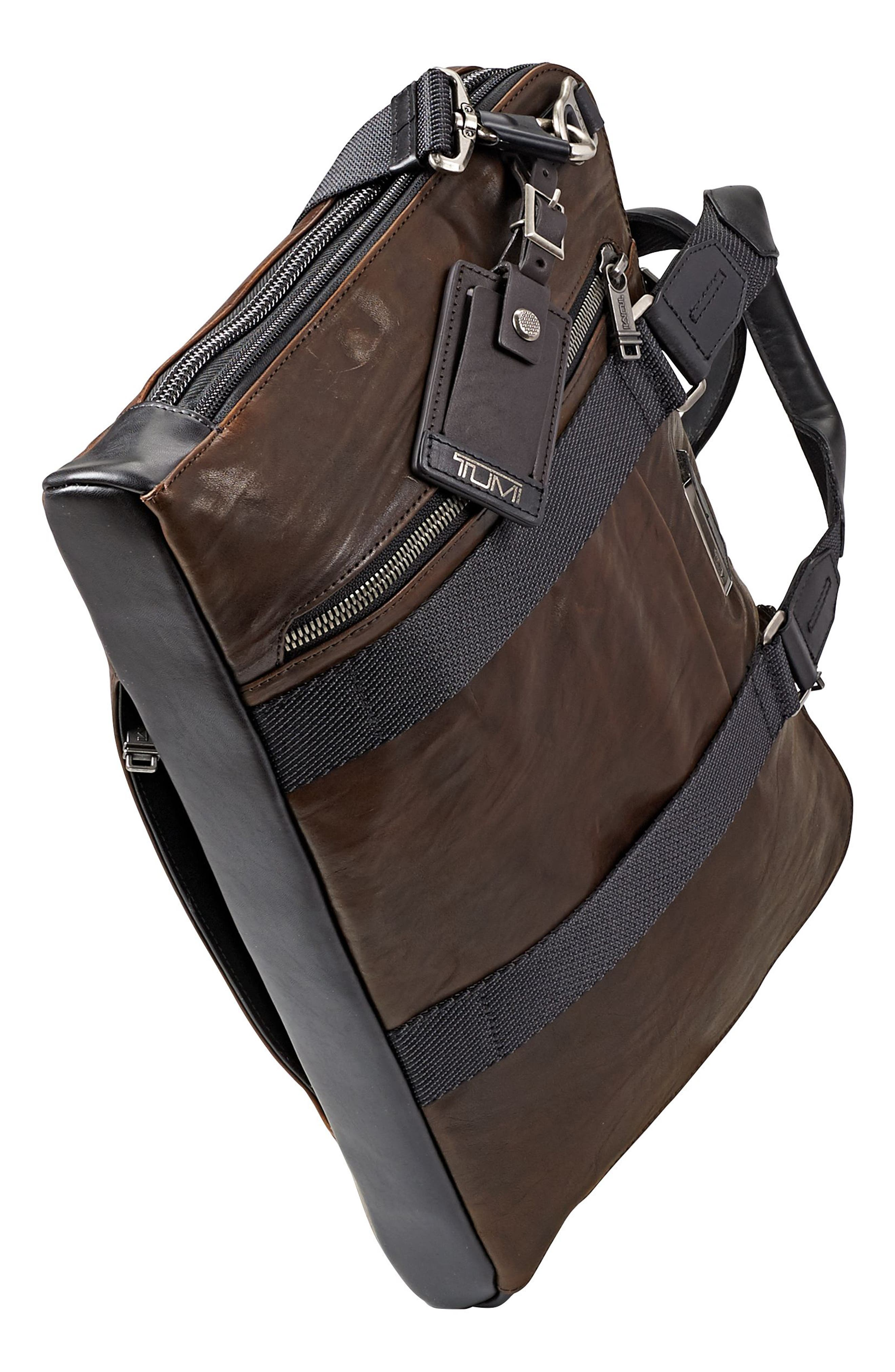 Alpha Bravo - Aviano Leather Briefcase,                             Alternate thumbnail 4, color,