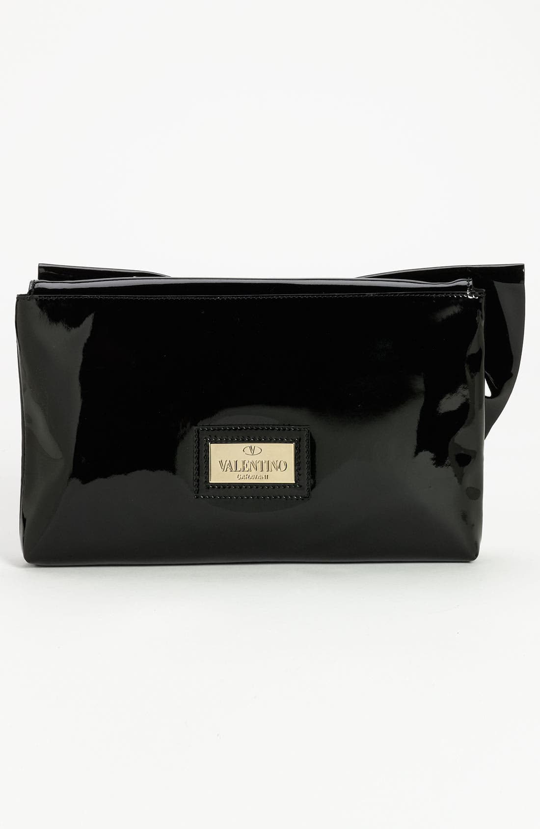 'Lacca Bow' Clutch,                             Alternate thumbnail 3, color,                             001