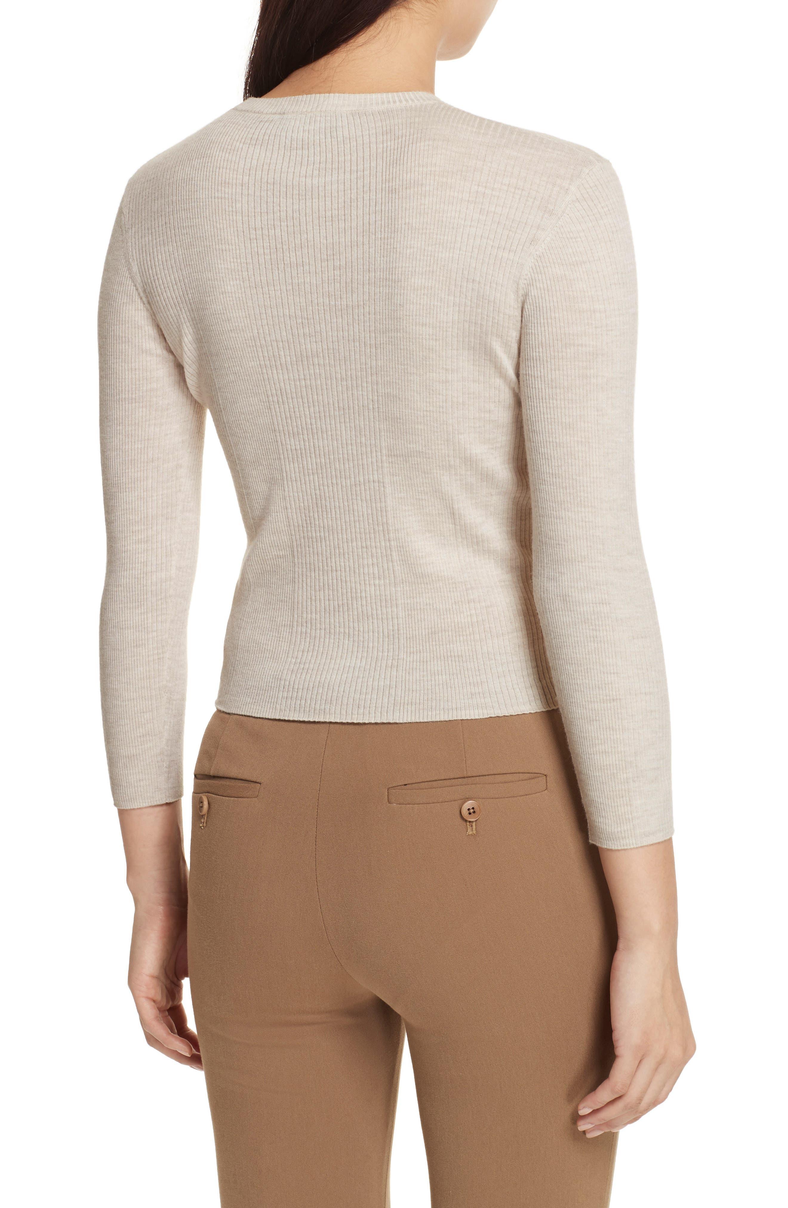 Merino Wool Blend Sweater,                             Alternate thumbnail 4, color,