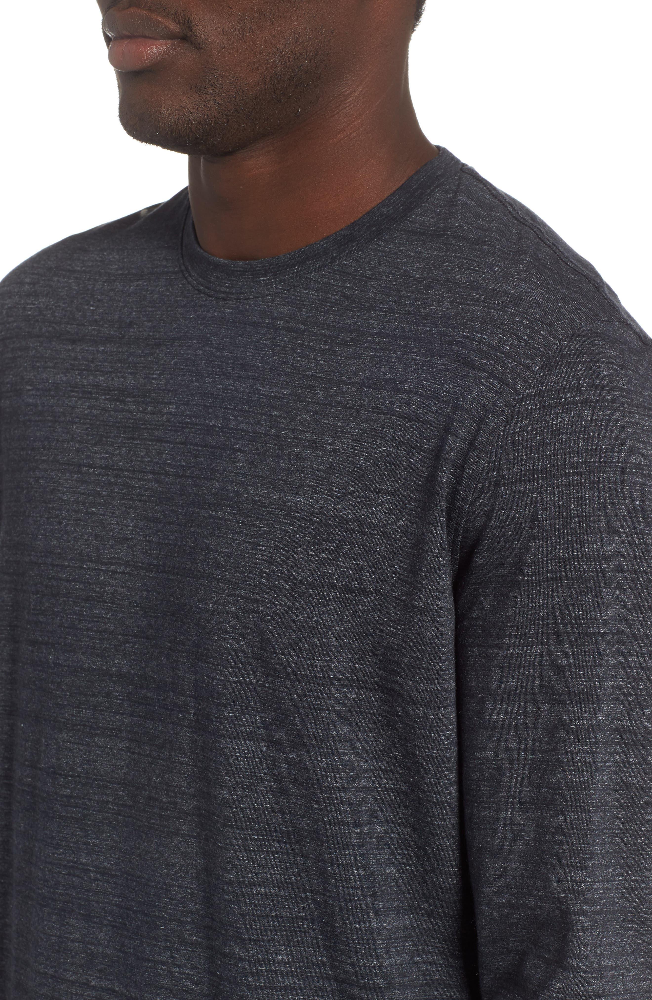 Sportstyle Long Sleeve Performance T-Shirt,                             Alternate thumbnail 4, color,                             BLACK/ STEEL