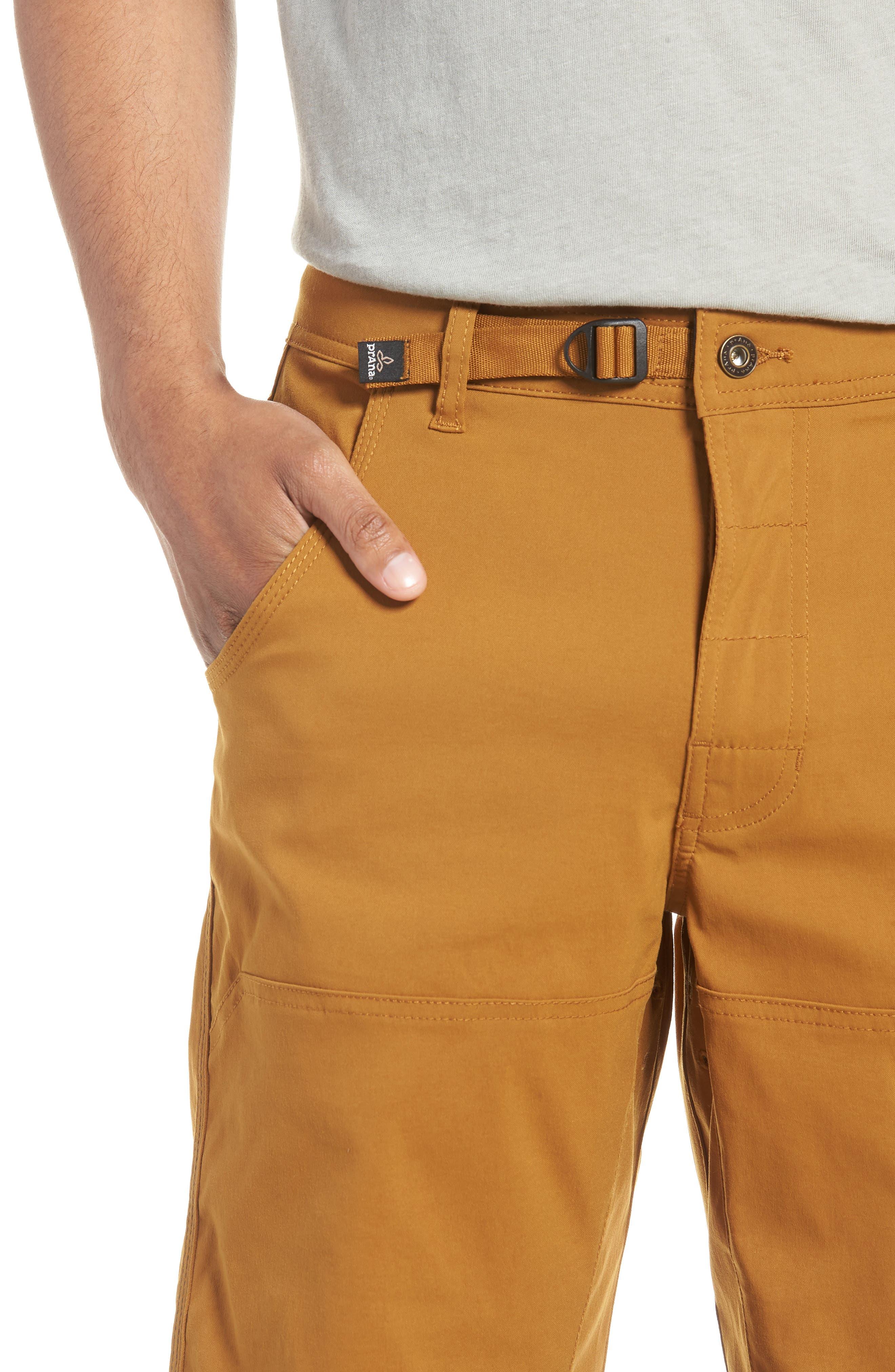 PRANA,                             Zion Stretch Shorts,                             Alternate thumbnail 4, color,                             BRONZED