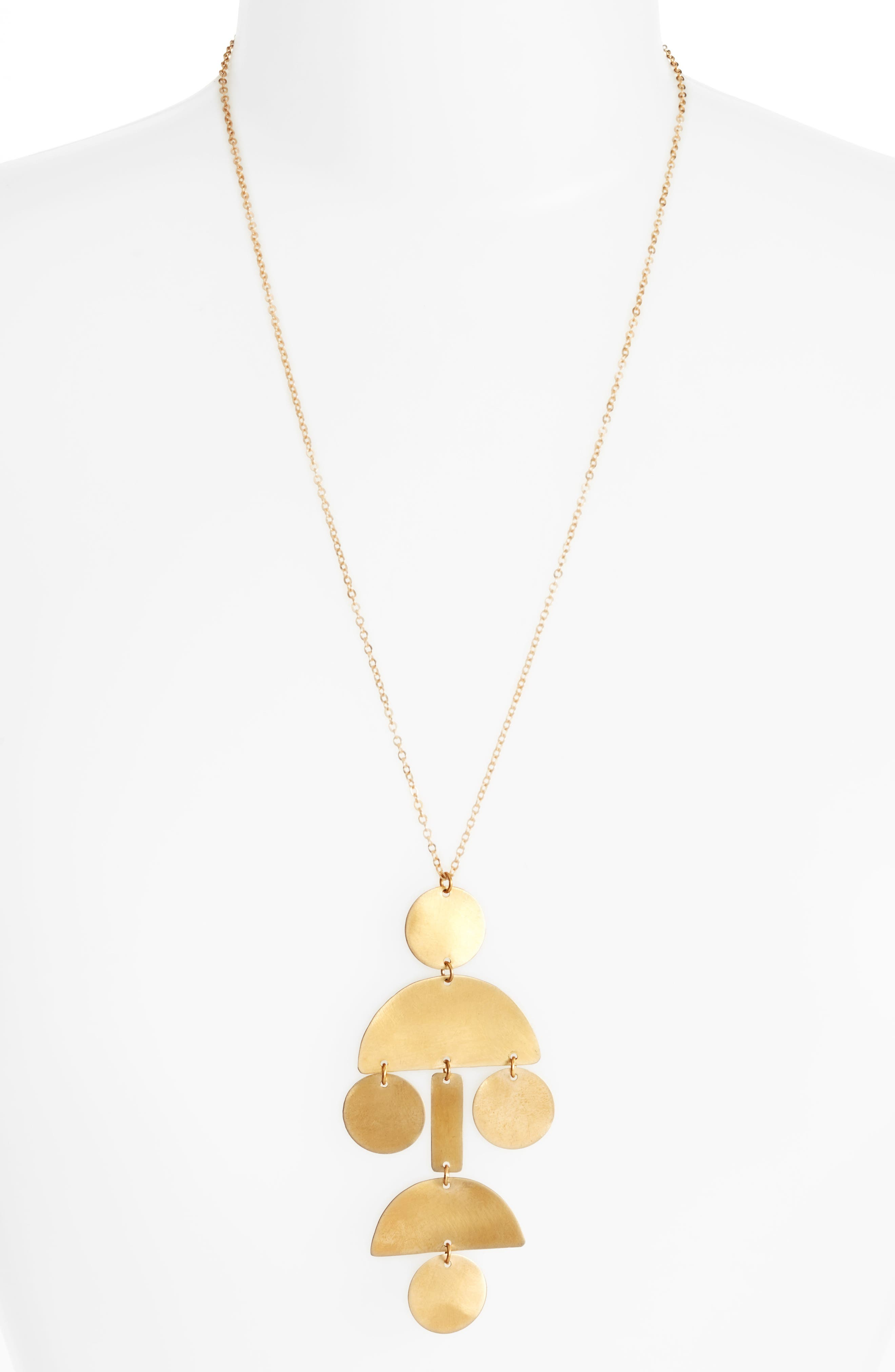 Geo Statement Necklace,                             Main thumbnail 1, color,                             710