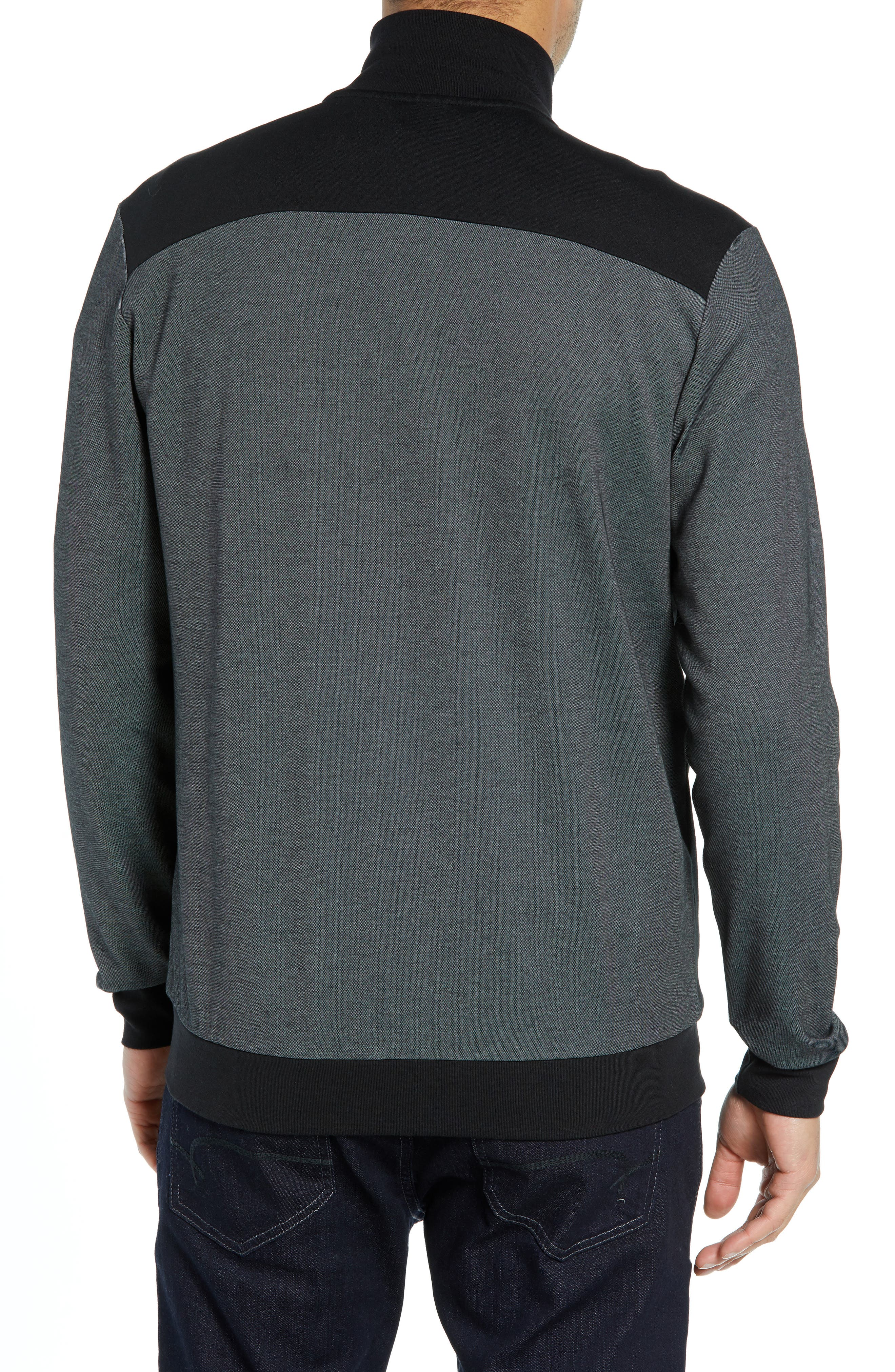 Cotton Blend Track Jacket,                             Alternate thumbnail 2, color,                             BLACK