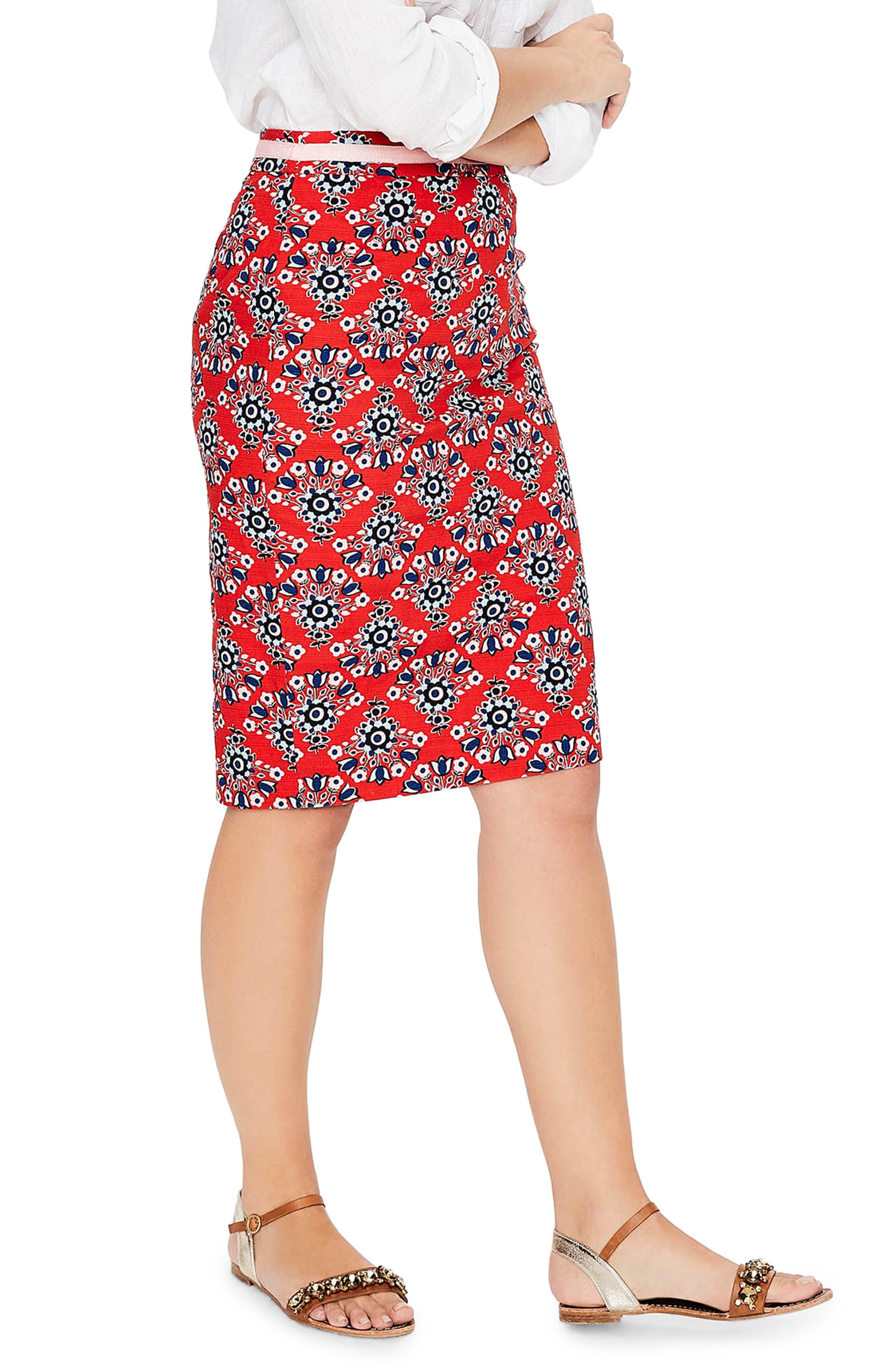Print Pencil Skirt,                             Alternate thumbnail 6, color,