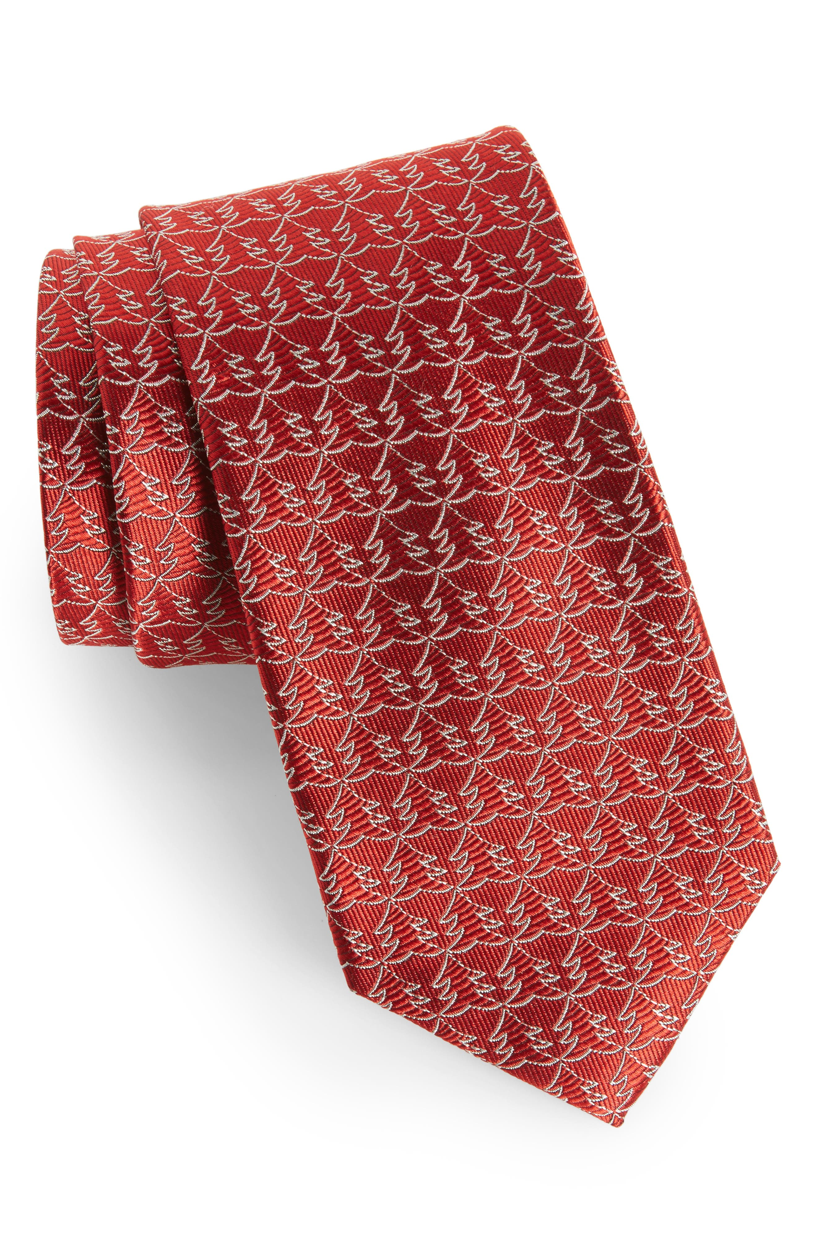 Christmas Tree Silk Tie,                             Main thumbnail 3, color,