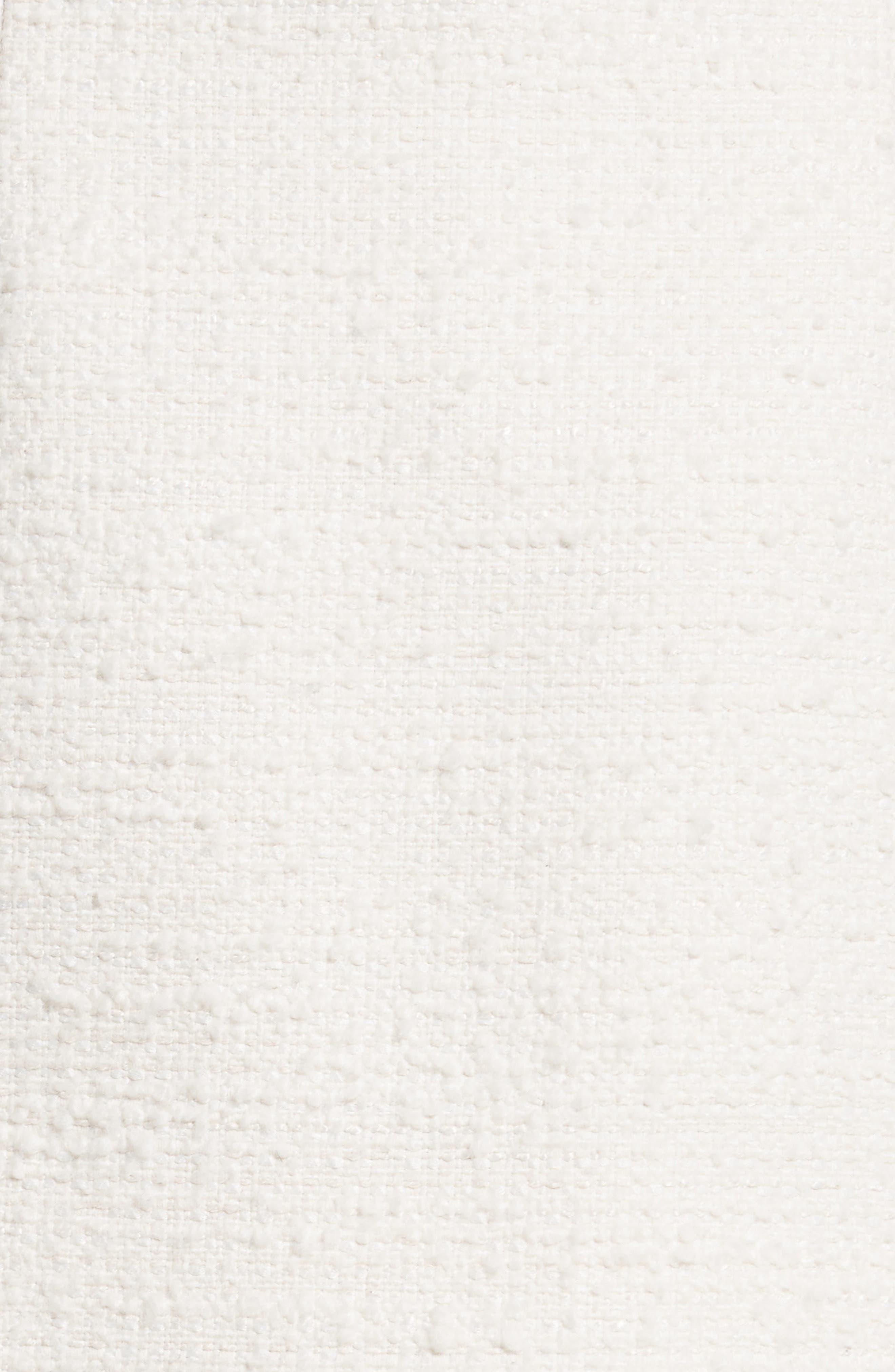 Chain Mail Trim Tweed Miniskirt,                             Alternate thumbnail 5, color,