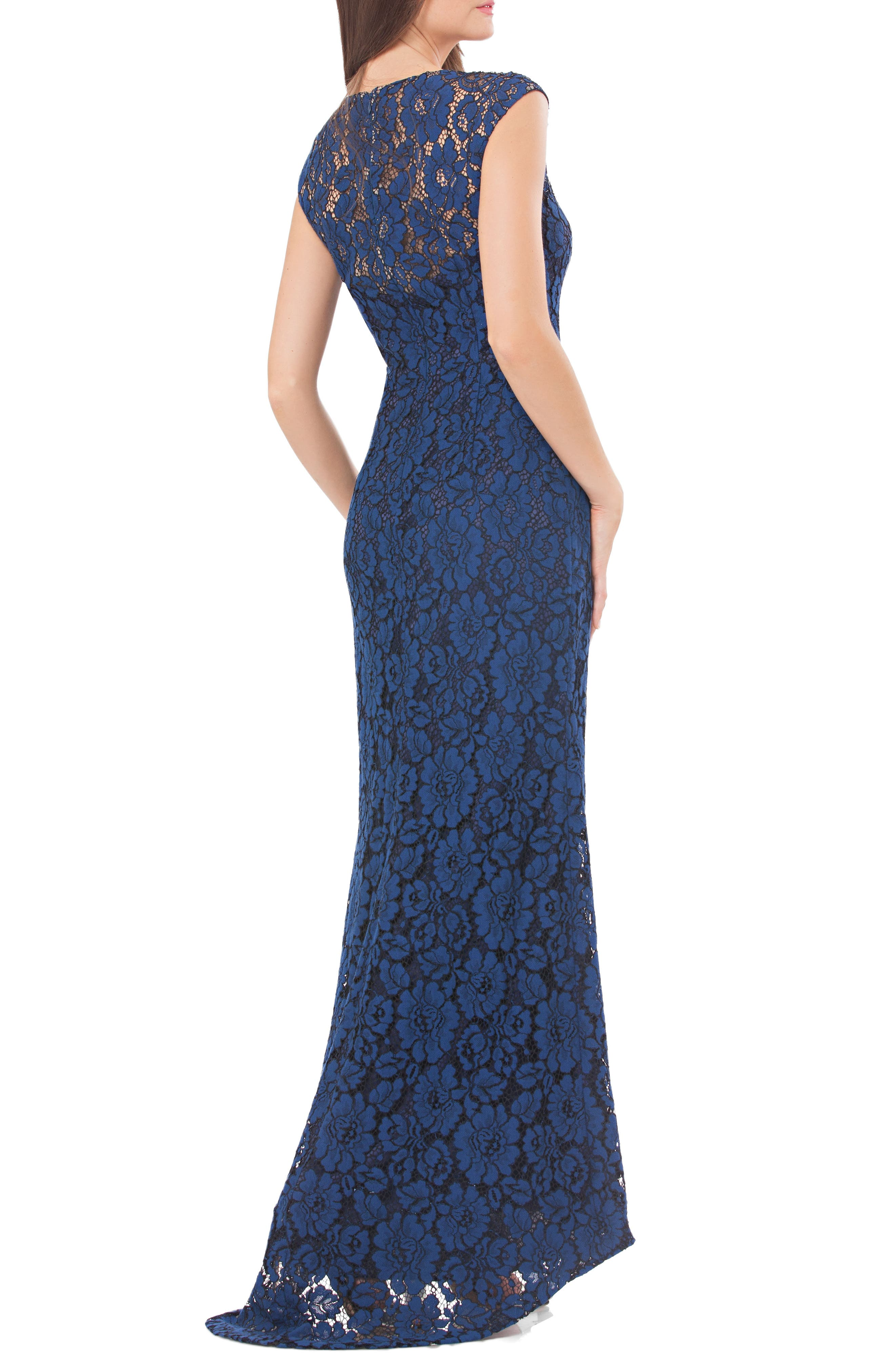 Lace Gown with Train,                             Alternate thumbnail 2, color,                             424