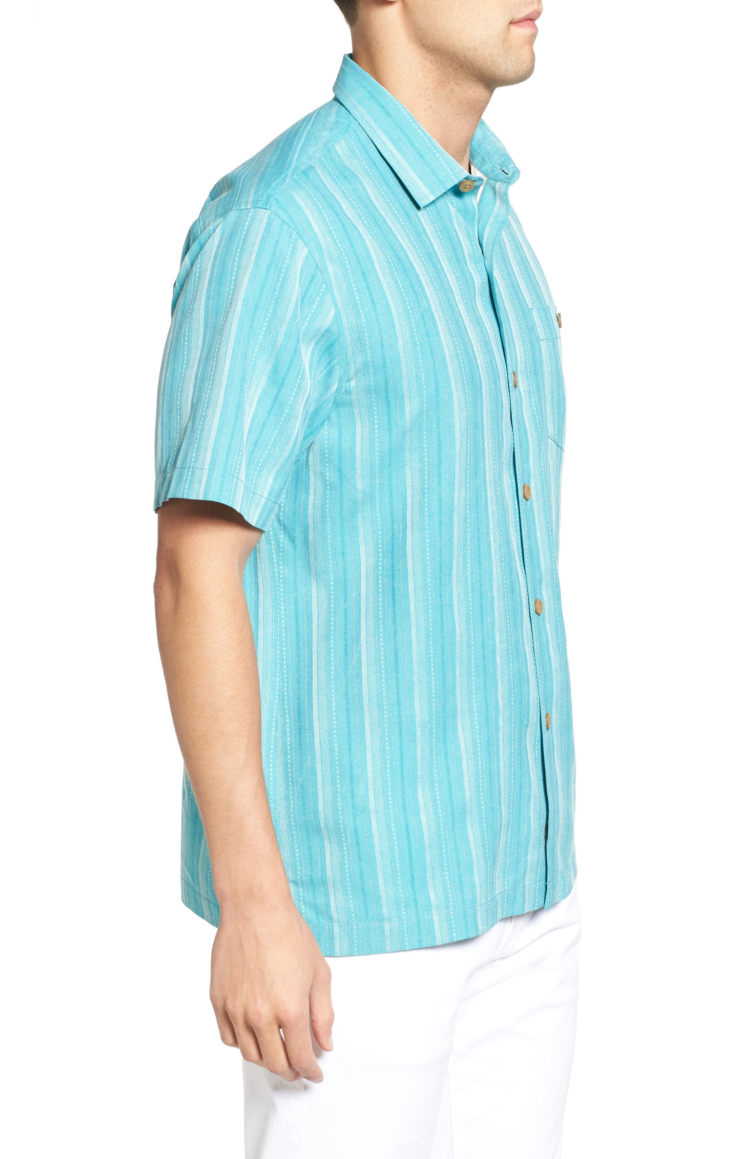 Zaldera Stripe Silk Camp Shirt,                             Alternate thumbnail 12, color,