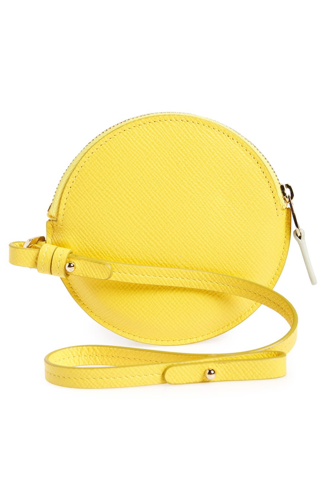 Circle Leather Coin Purse,                             Alternate thumbnail 12, color,