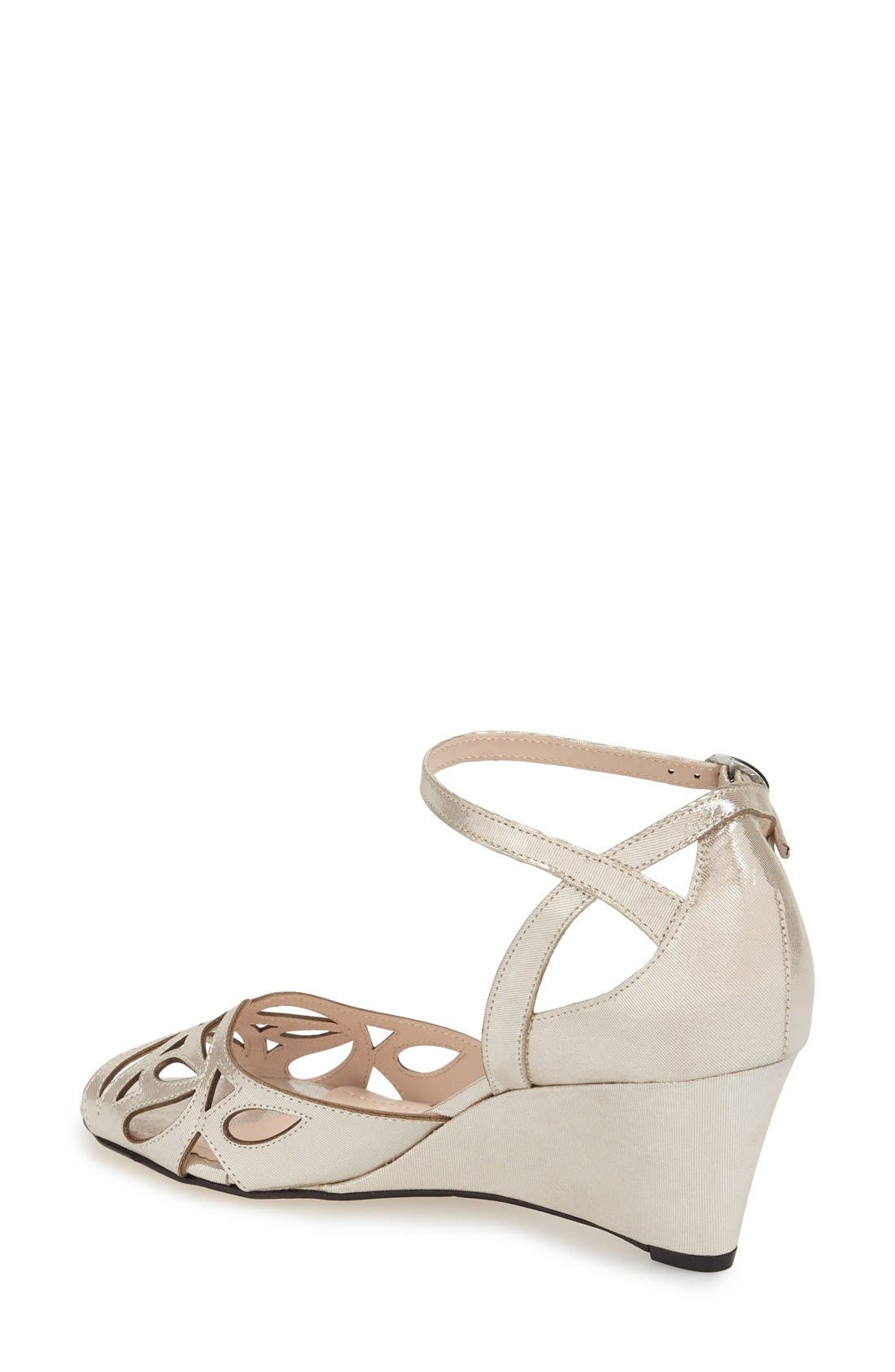 KLUB NICO,                             'Kismet' Wedge Sandal,                             Alternate thumbnail 2, color,                             SILVER LEATHER