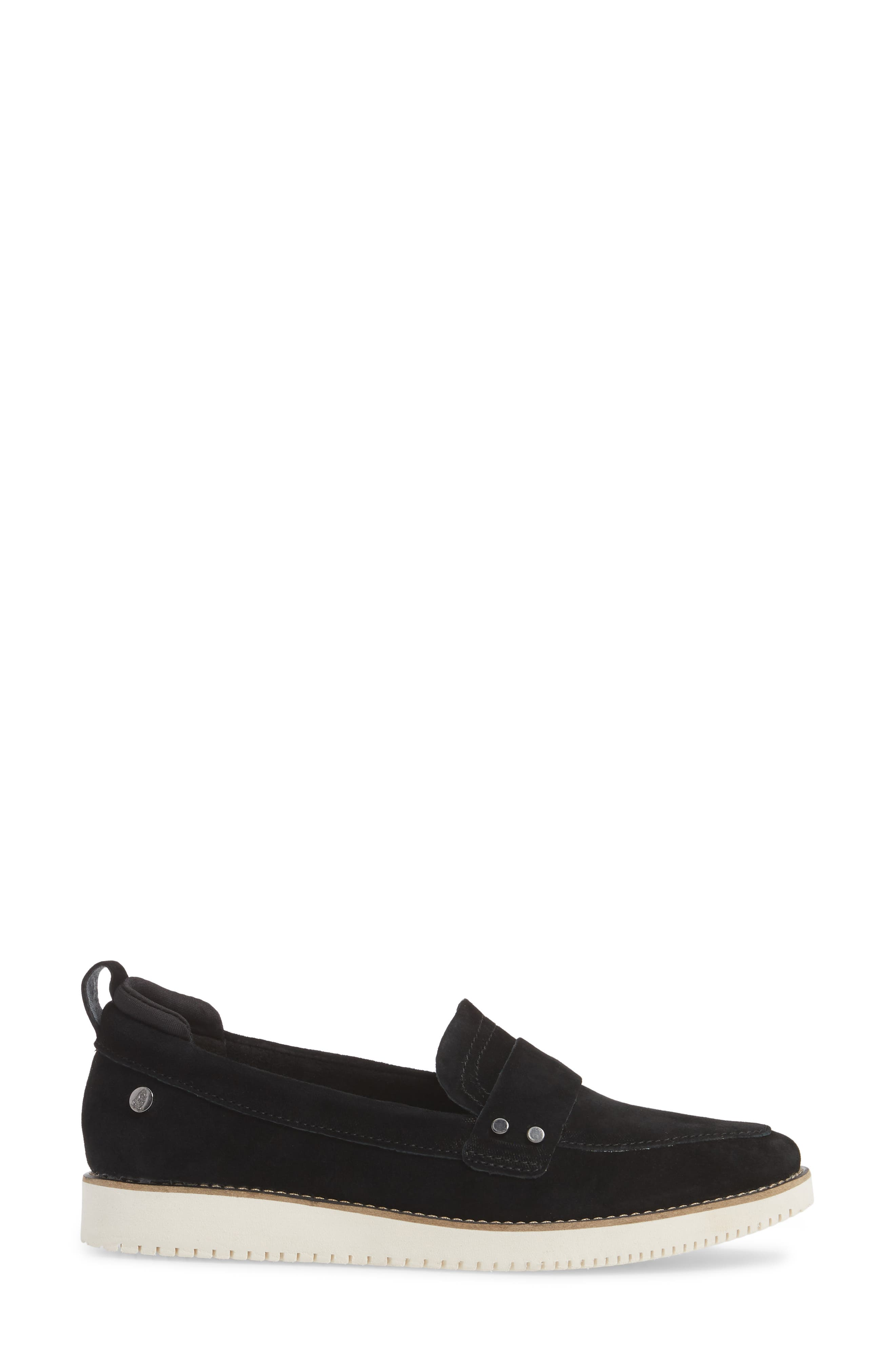 HUSH PUPPIES<SUP>®</SUP>,                             Chowchow Loafer,                             Alternate thumbnail 3, color,                             001