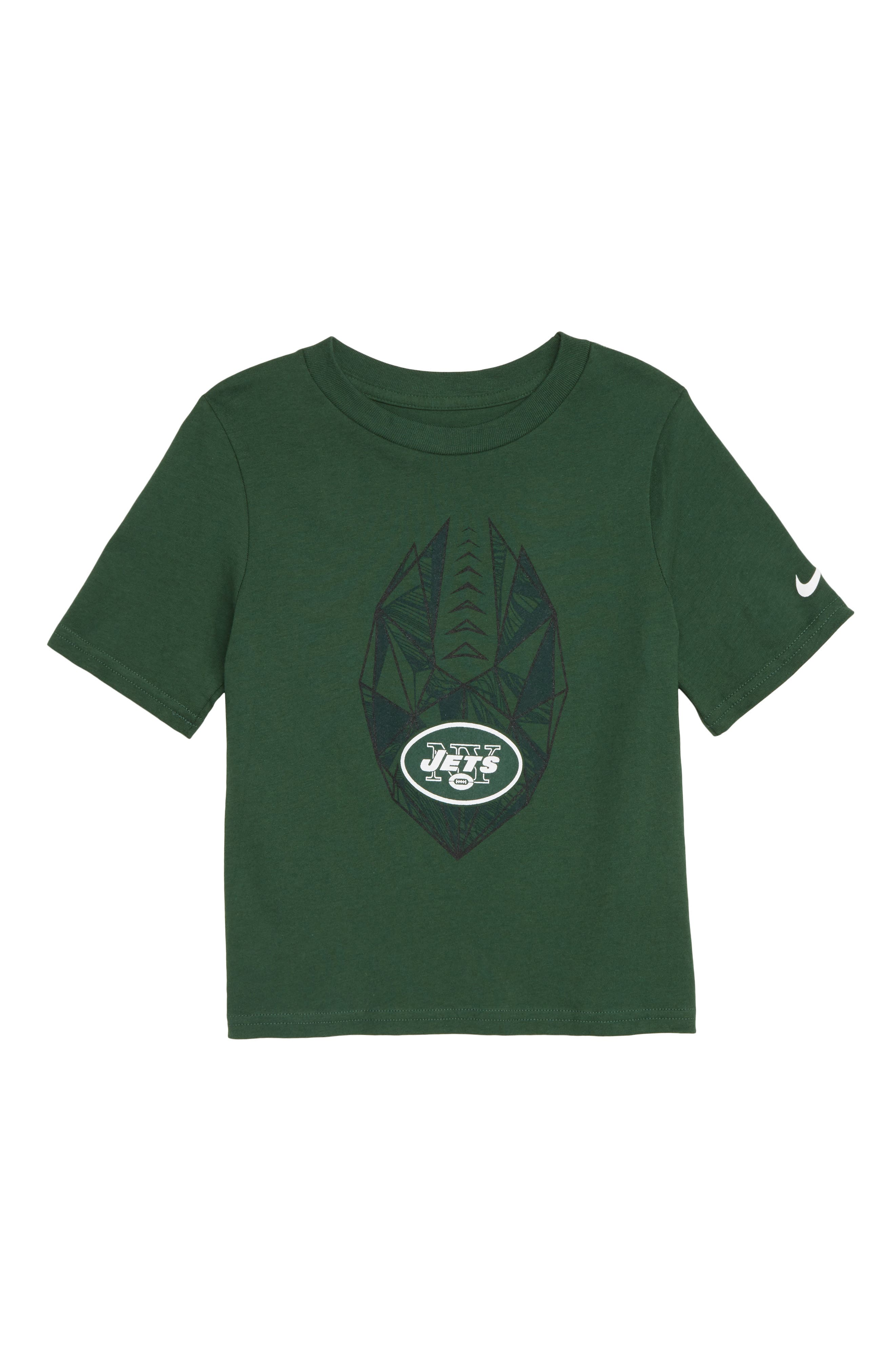 NFL Logo New York Jets Graphic T-Shirt,                             Main thumbnail 1, color,                             GREEN