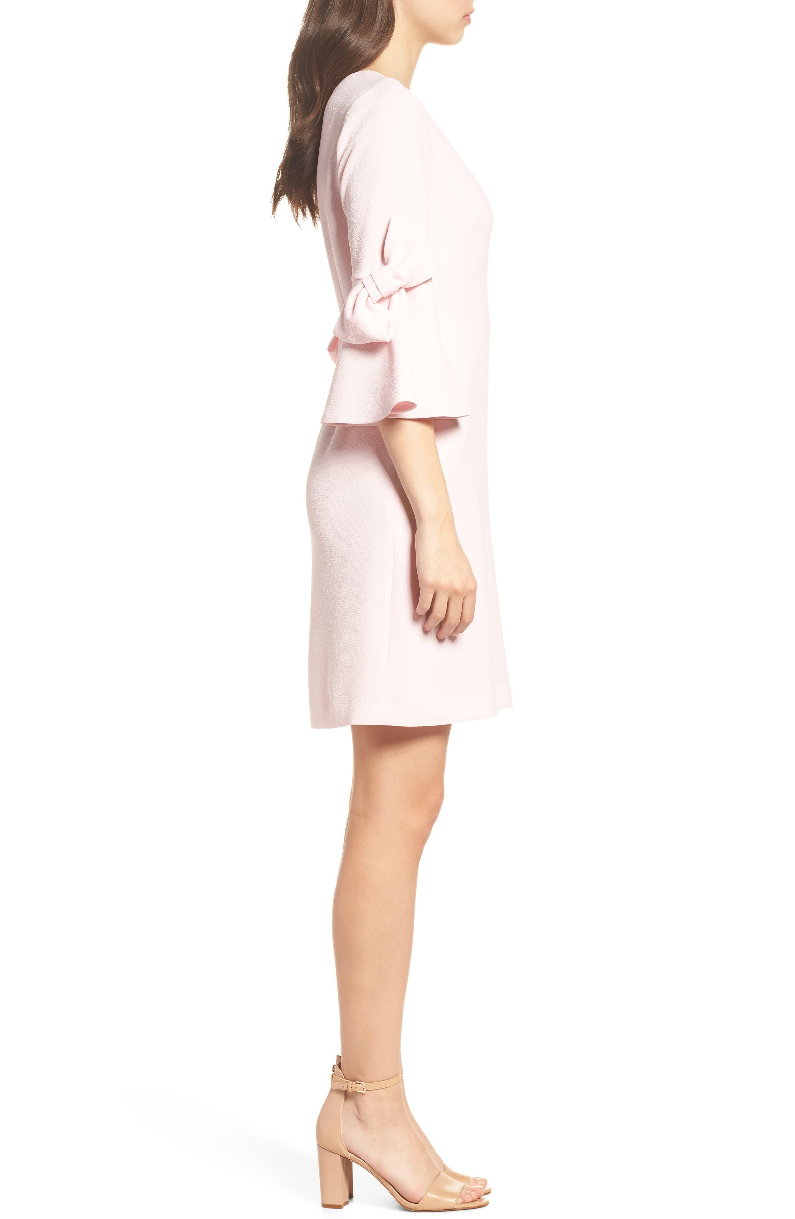 Bell Sleeve Sheath Dress,                             Alternate thumbnail 3, color,