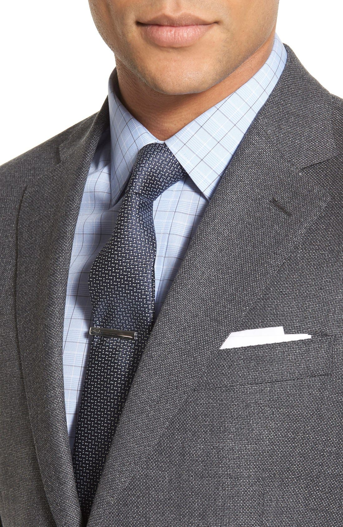 Classic Fit Hopsack Wool Blazer,                             Alternate thumbnail 5, color,                             020