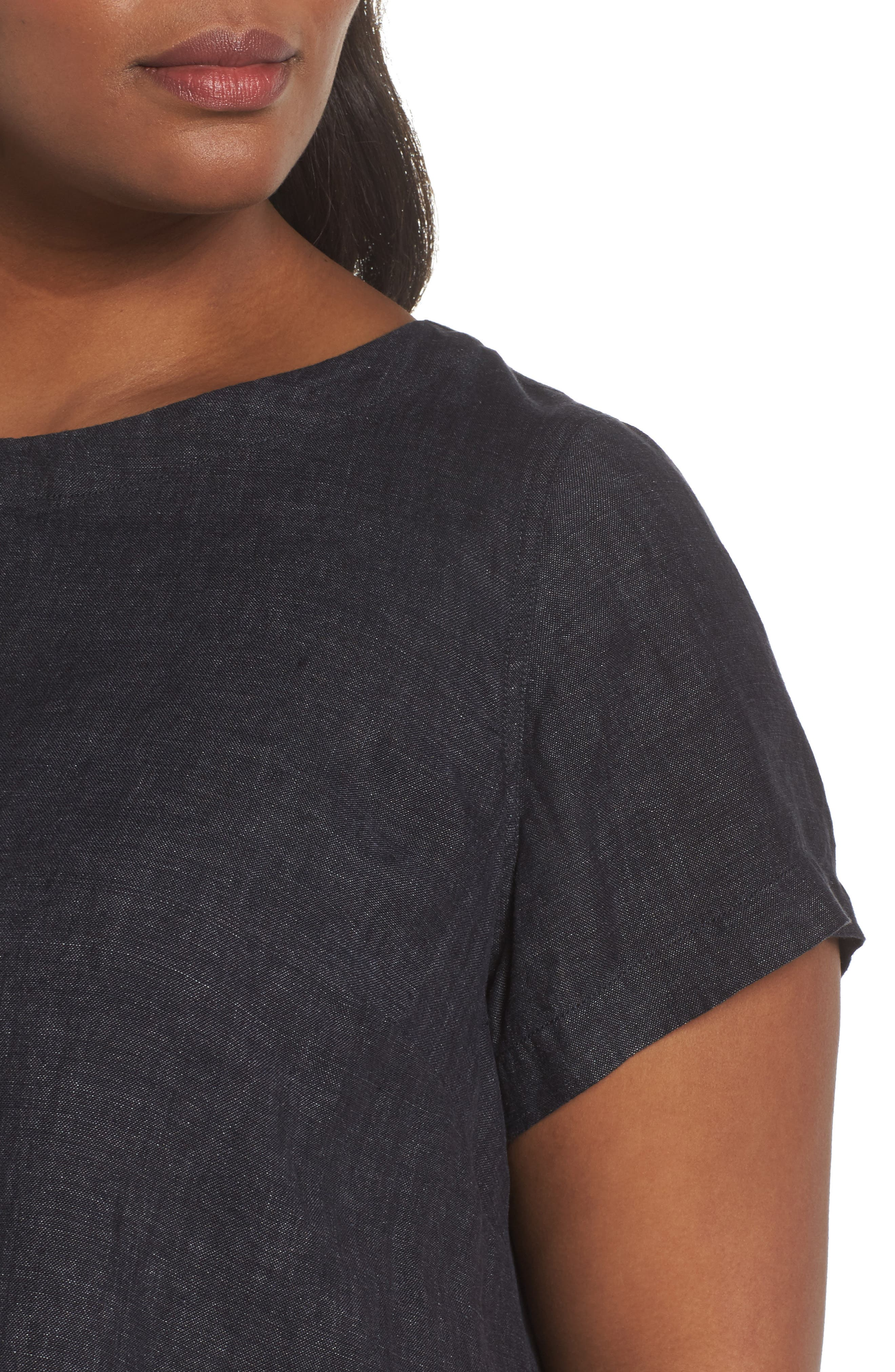 Organic Linen Flutter Top,                             Alternate thumbnail 4, color,                             480