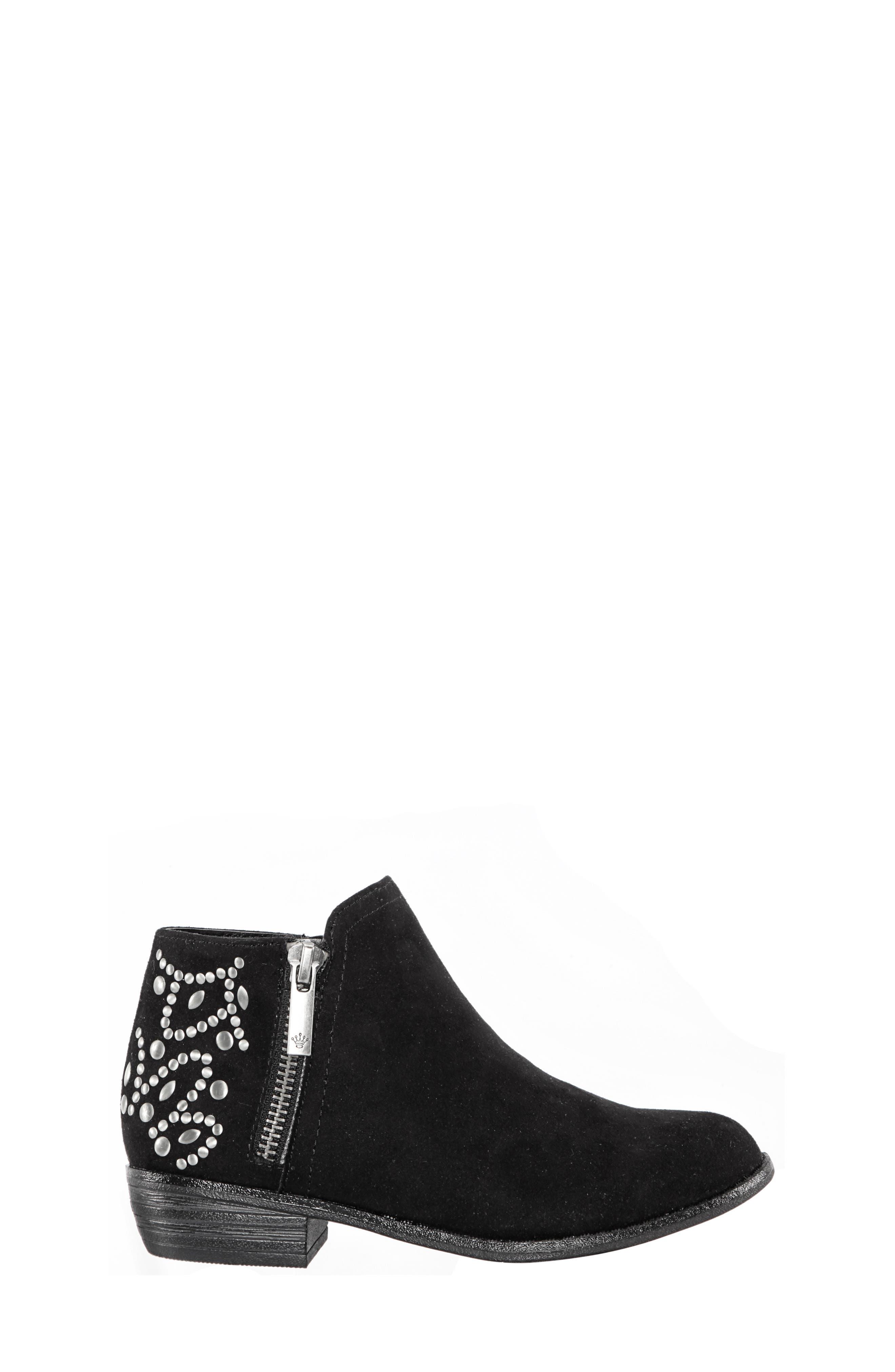 Destany Block Heel Bootie,                             Alternate thumbnail 3, color,                             BLACK MICRO SUEDE