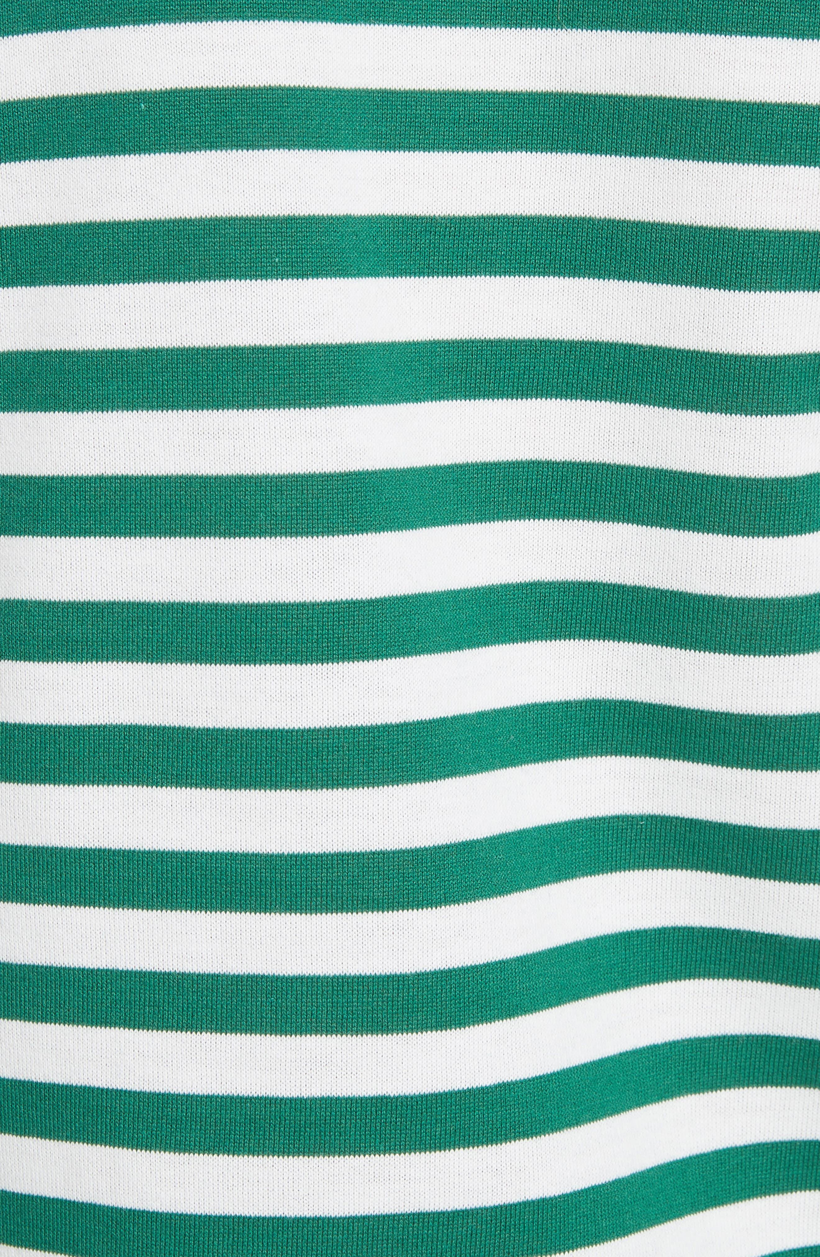 Comme des Garçons PLAY Stripe Cotton Tee,                             Alternate thumbnail 5, color,                             GREEN/ WHITE