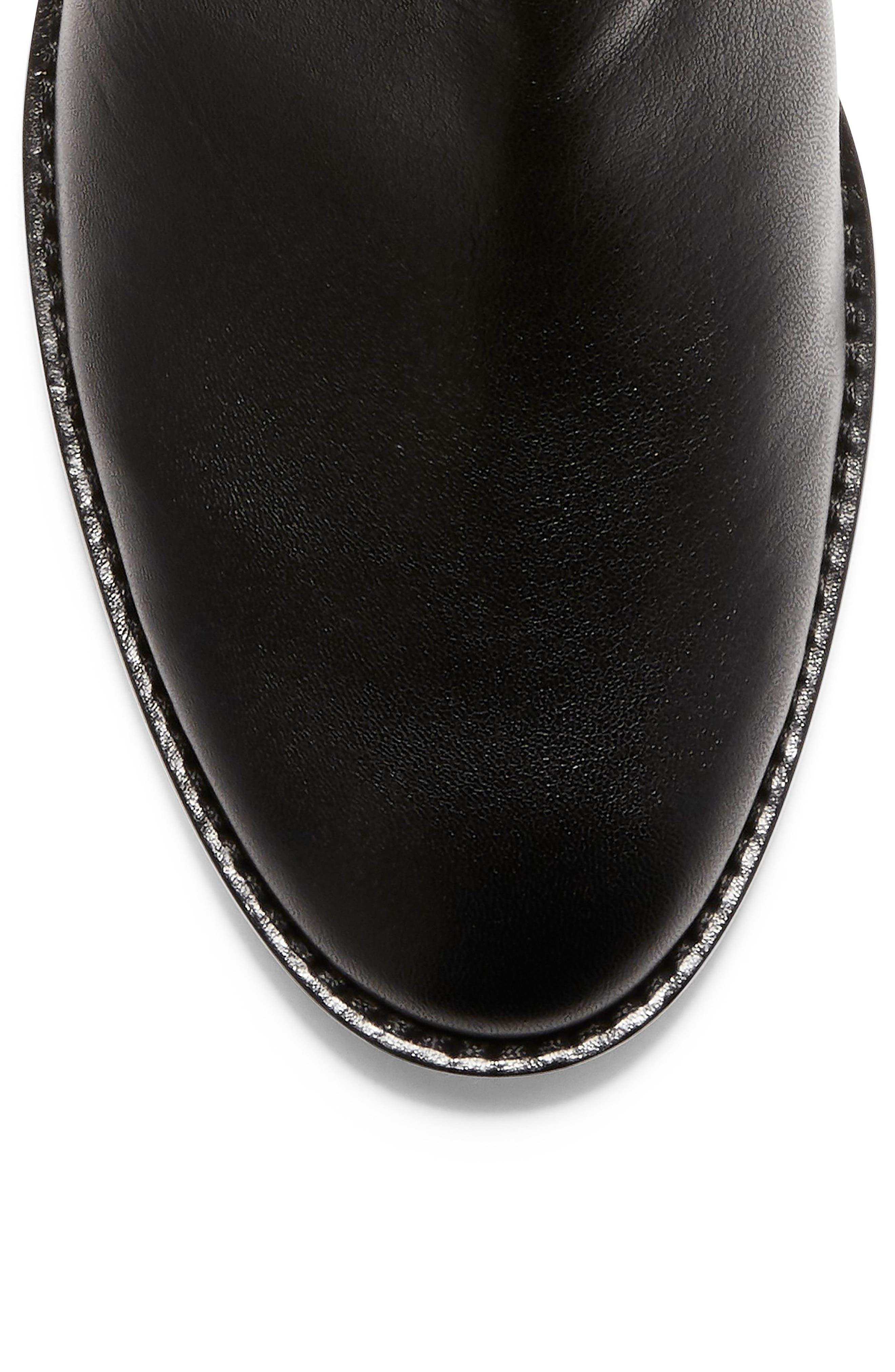 Harrington Grand Slouch Bootie,                             Alternate thumbnail 7, color,                             BLACK LEATHER