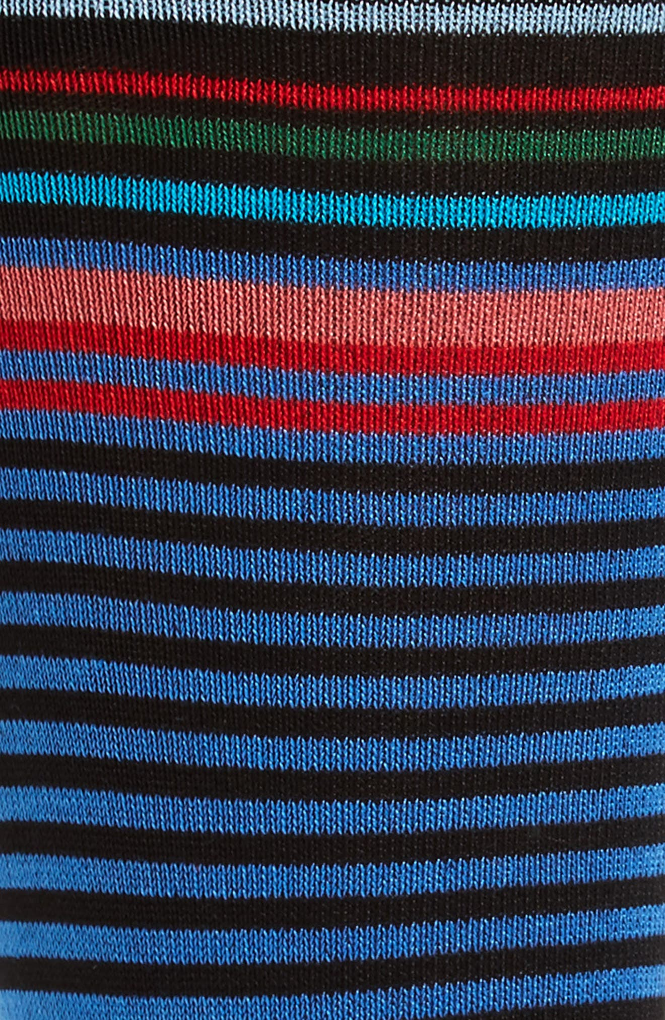 Stripe Crew Socks,                             Alternate thumbnail 2, color,                             001