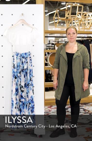 Ruffle Off the Shoulder Maxi Dress, sales video thumbnail