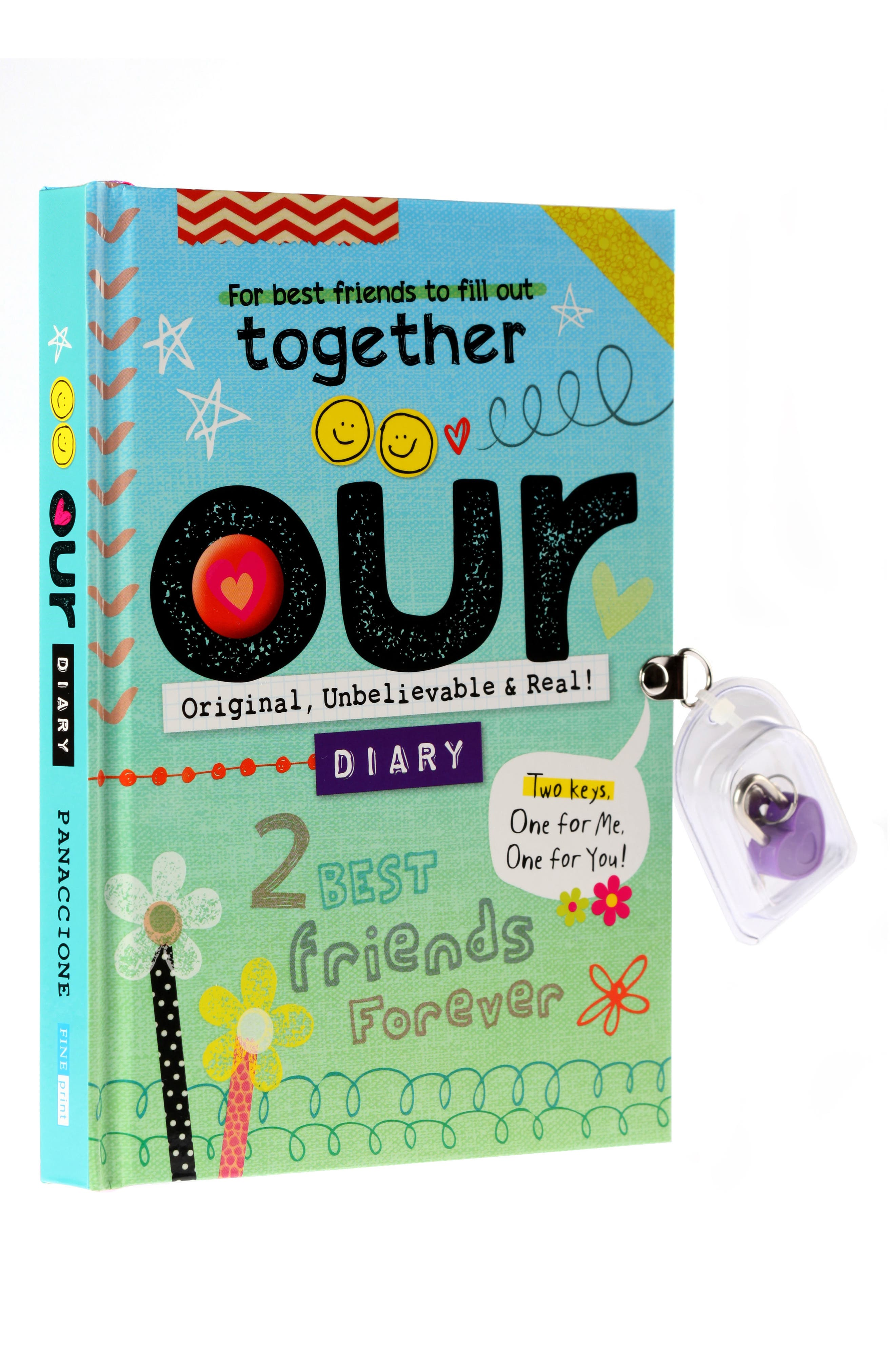 Fine Print Our Diary Lockable Activity Book,                         Main,                         color, 400