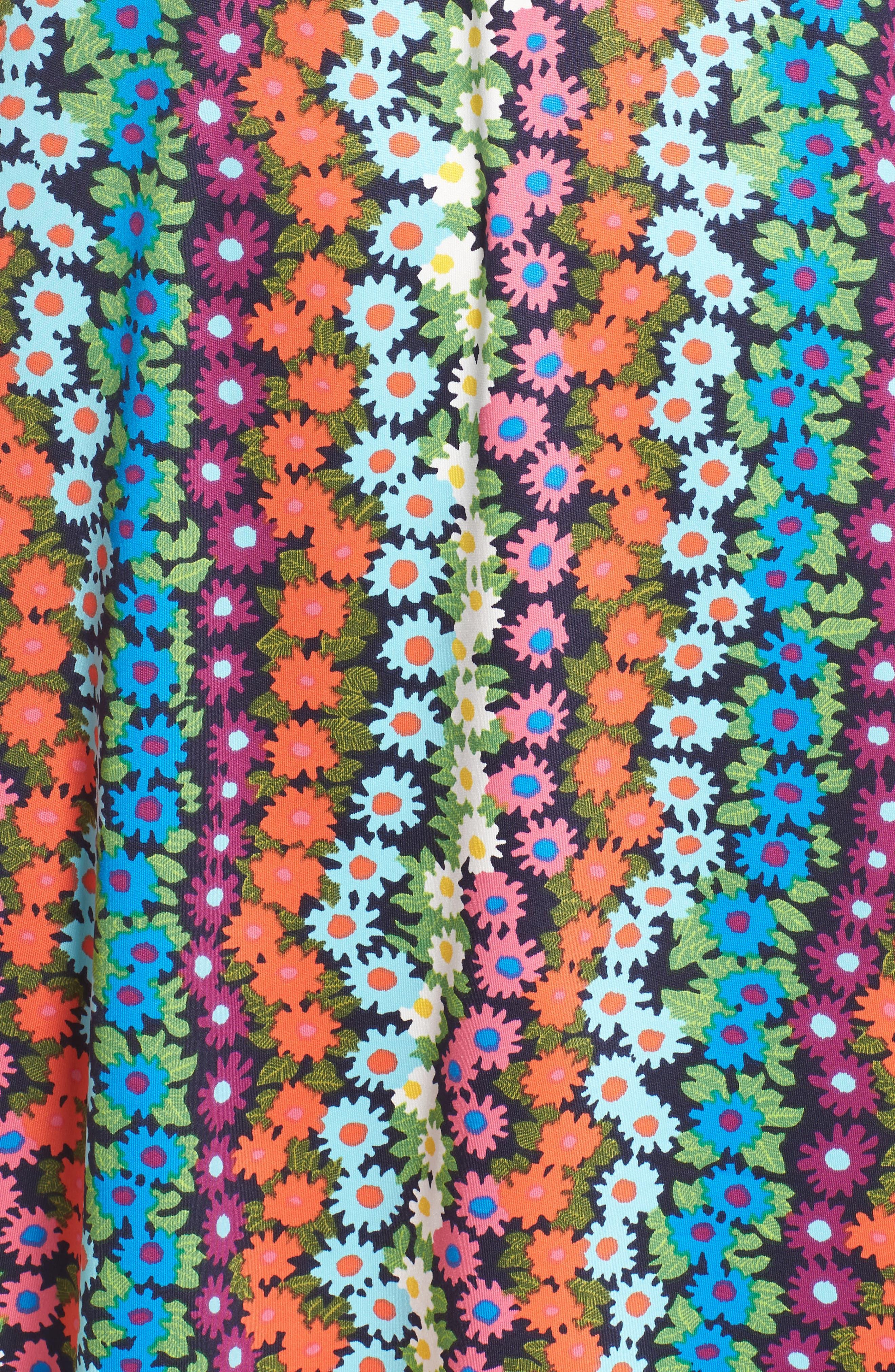 Trina Turk Off the Shoulder Bell Sleeve Dress,                             Alternate thumbnail 5, color,                             460