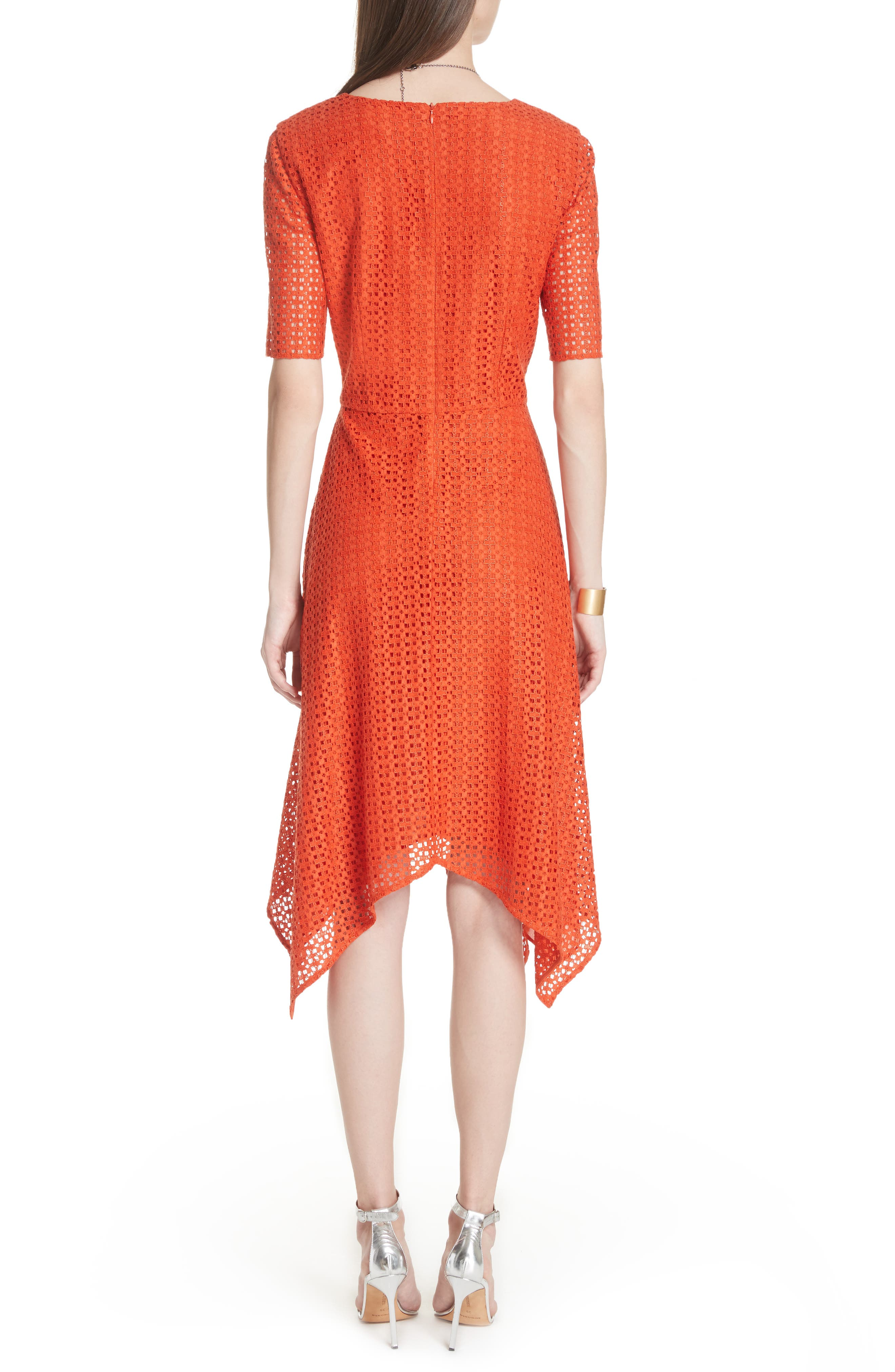 Geo Coated Lace Dress,                             Alternate thumbnail 2, color,                             SIENNA