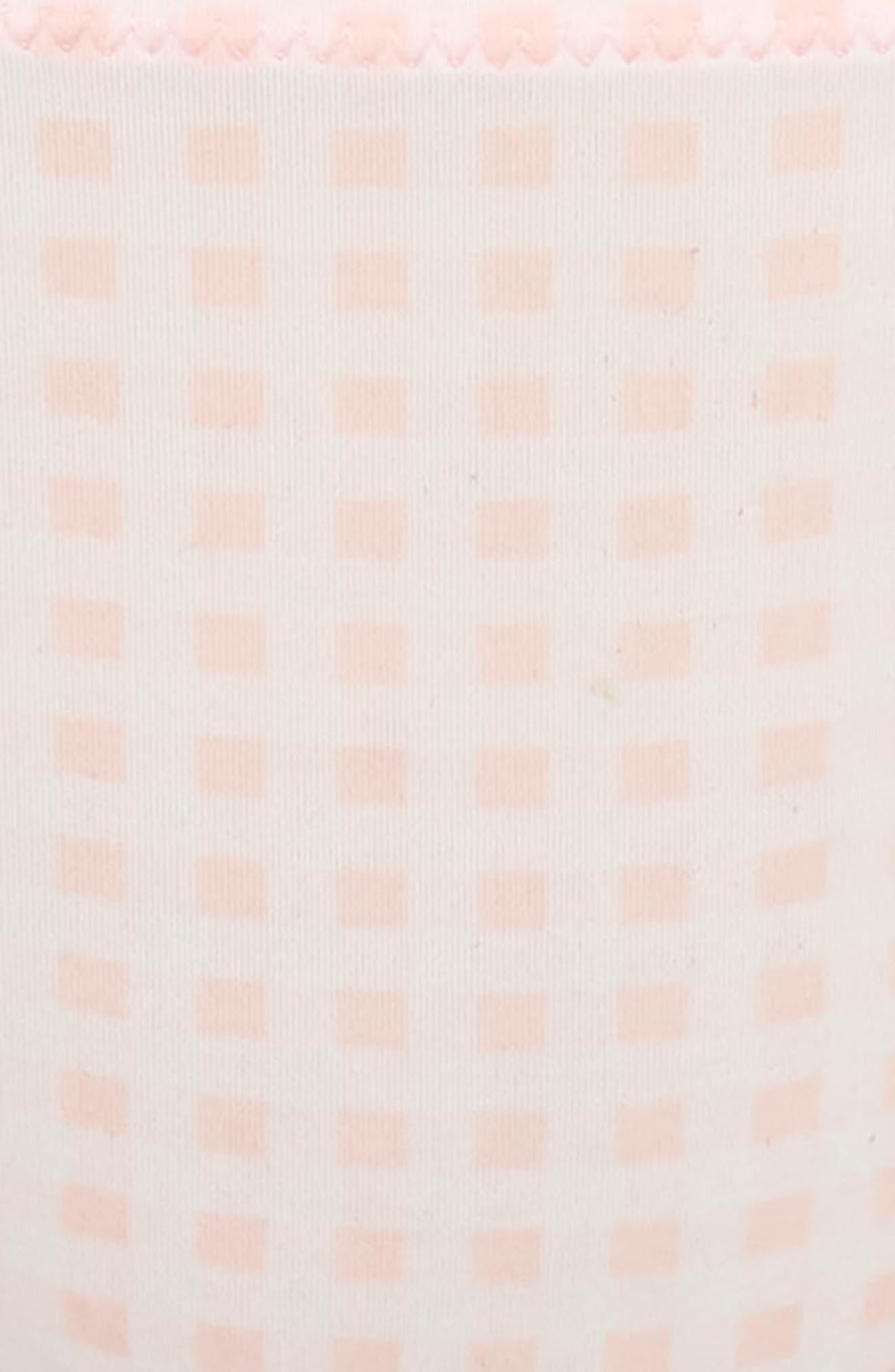 Gingham Thong,                             Alternate thumbnail 5, color,                             WARM PINK WHITE