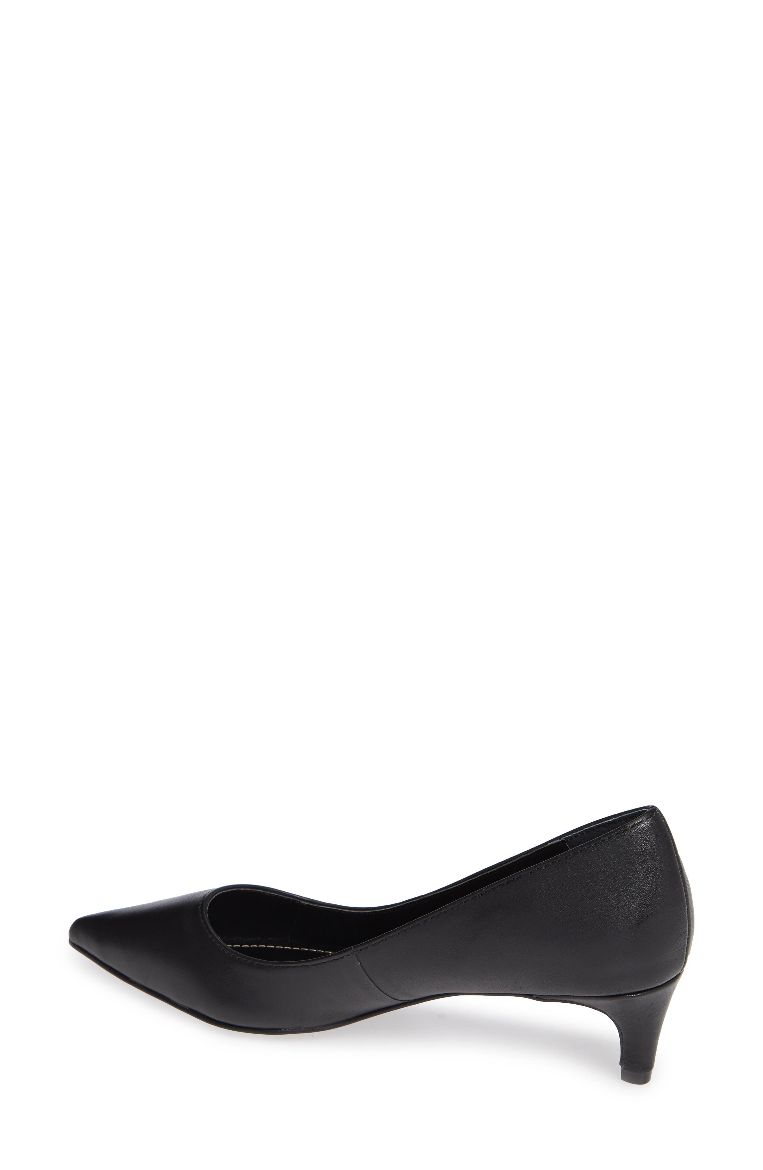 Kitten Pointy Toe Pump,                             Alternate thumbnail 2, color,                             BLACK