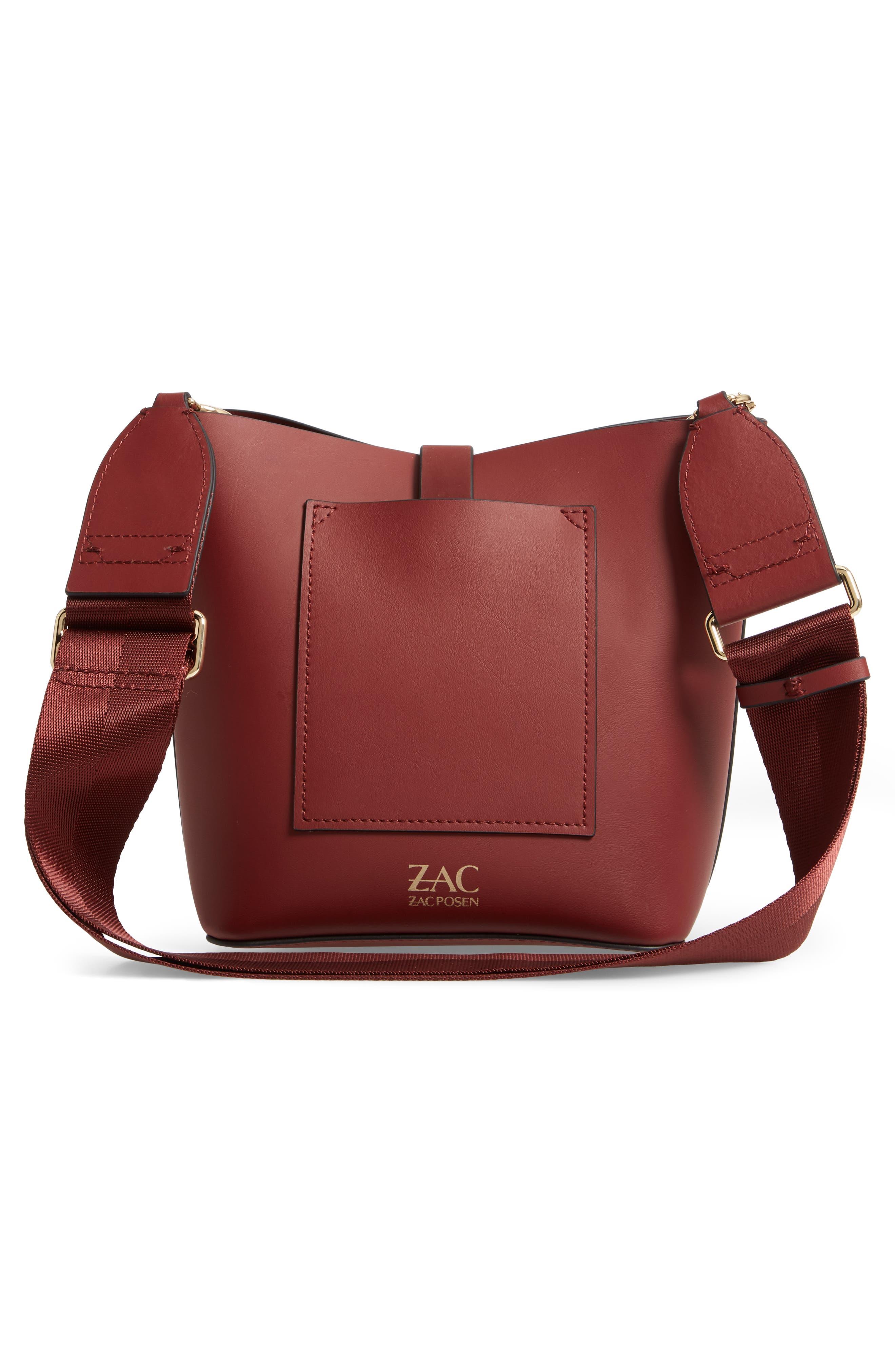 Small Belay Leather Hobo Bag,                             Alternate thumbnail 3, color,                             SMOKED MERLOT