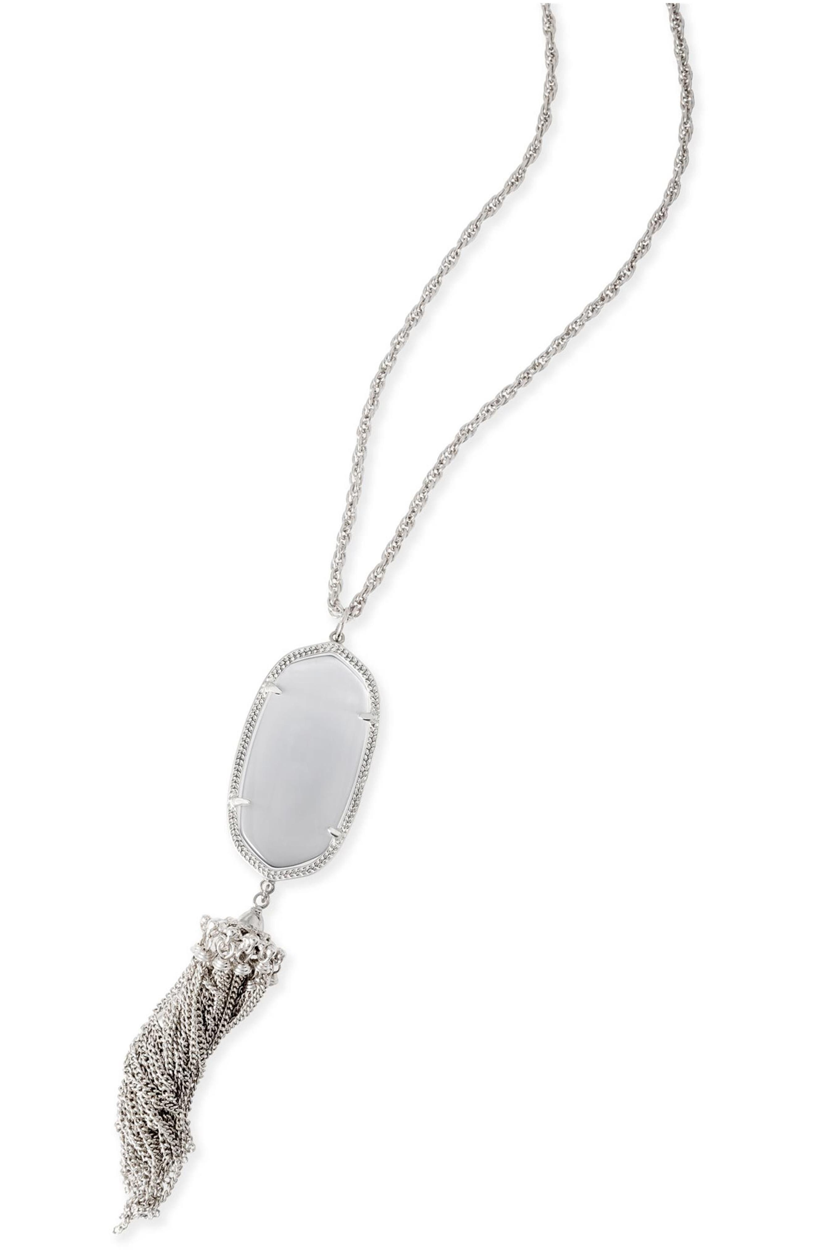 Rayne Stone Tassel Pendant Necklace,                             Alternate thumbnail 185, color,