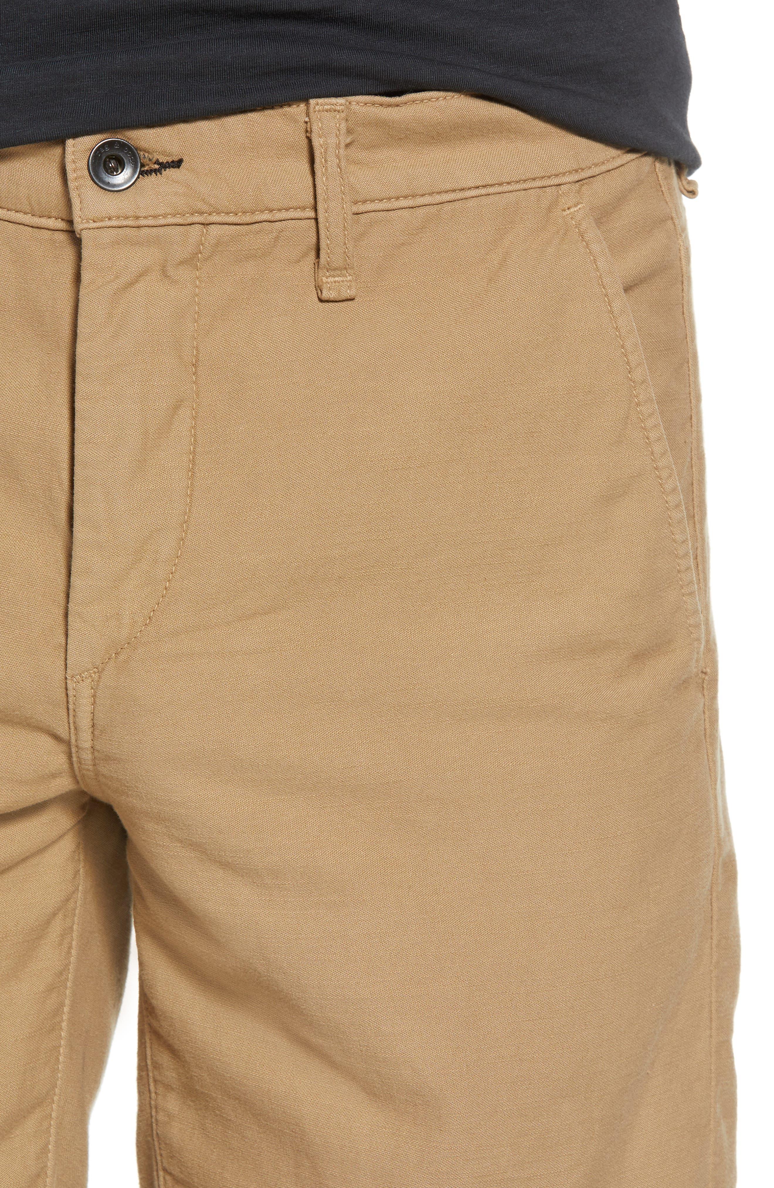 Straight Leg Chino Shorts,                             Alternate thumbnail 4, color,                             KHAKI